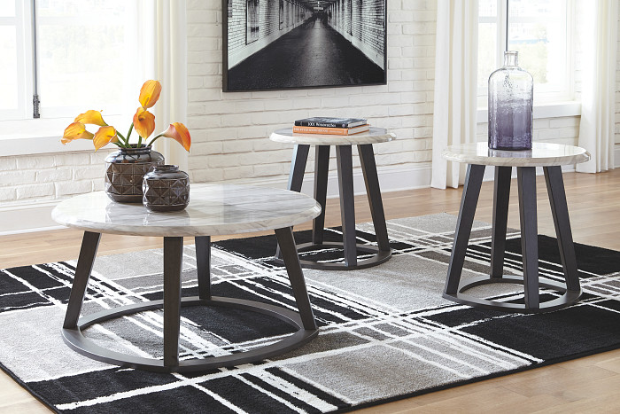 Luvoni White/Dark Gray Occasional Table Set  / $12.69 A Week