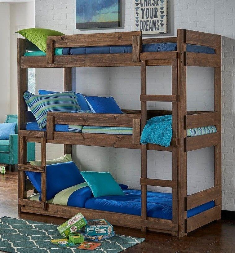 Triple Twin Wooden Bunk Bed  / $19.89 A Week