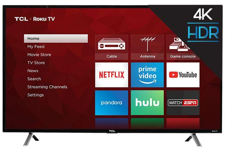 """TCL 49"""" 4K UHD 120Hz Roku Smart TV  / $14.99 A Week"""
