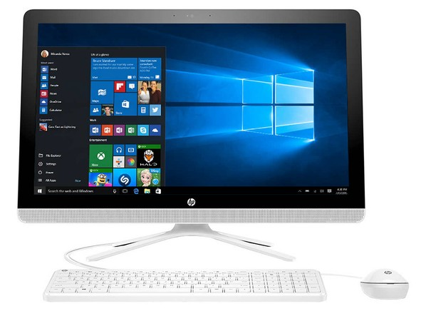 Hp 24 Quot Refurbished Touchscreen All In One White Desktop