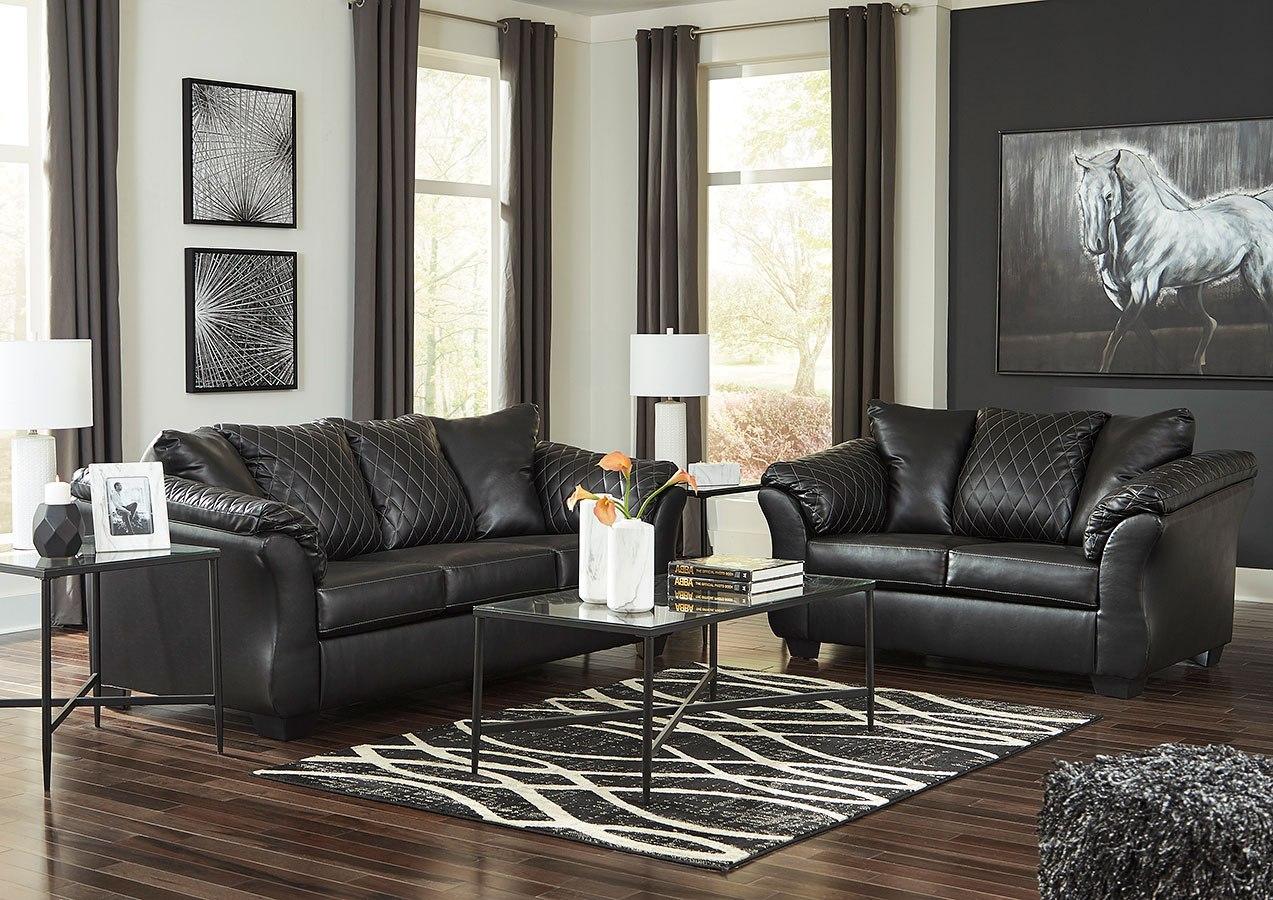Betrillo Black Sofa And Loveseat Majik Rent To Own