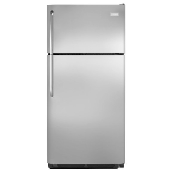 Frigidaire 18 Cu. Ft. Stainless Top Freezer Refrigerator  / $24.99 A Week