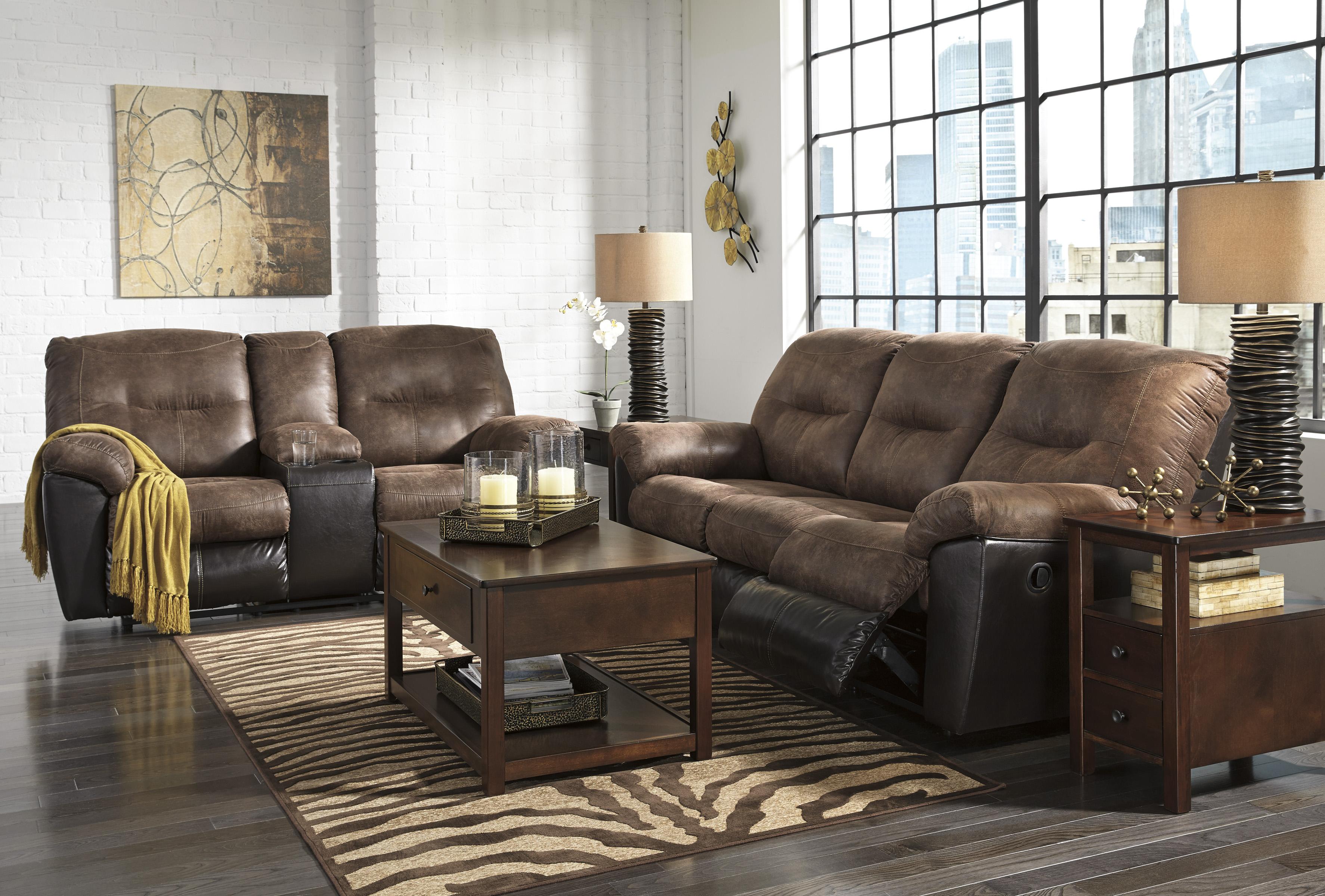 Majik Follett Coffee Reclining Sofa And Reclining