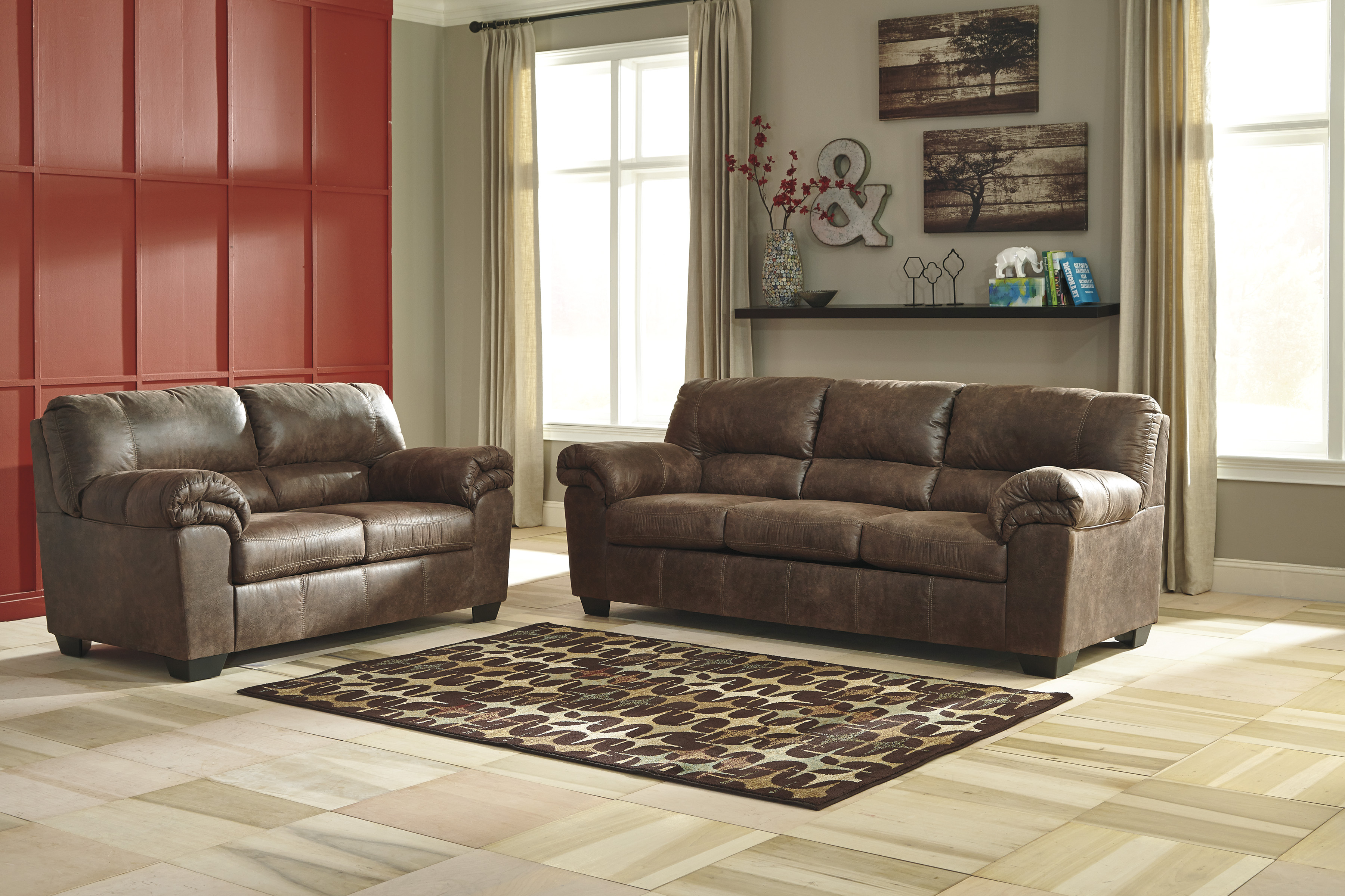 Majik Bladen Slate Sofa And Loveseat Rent To Own