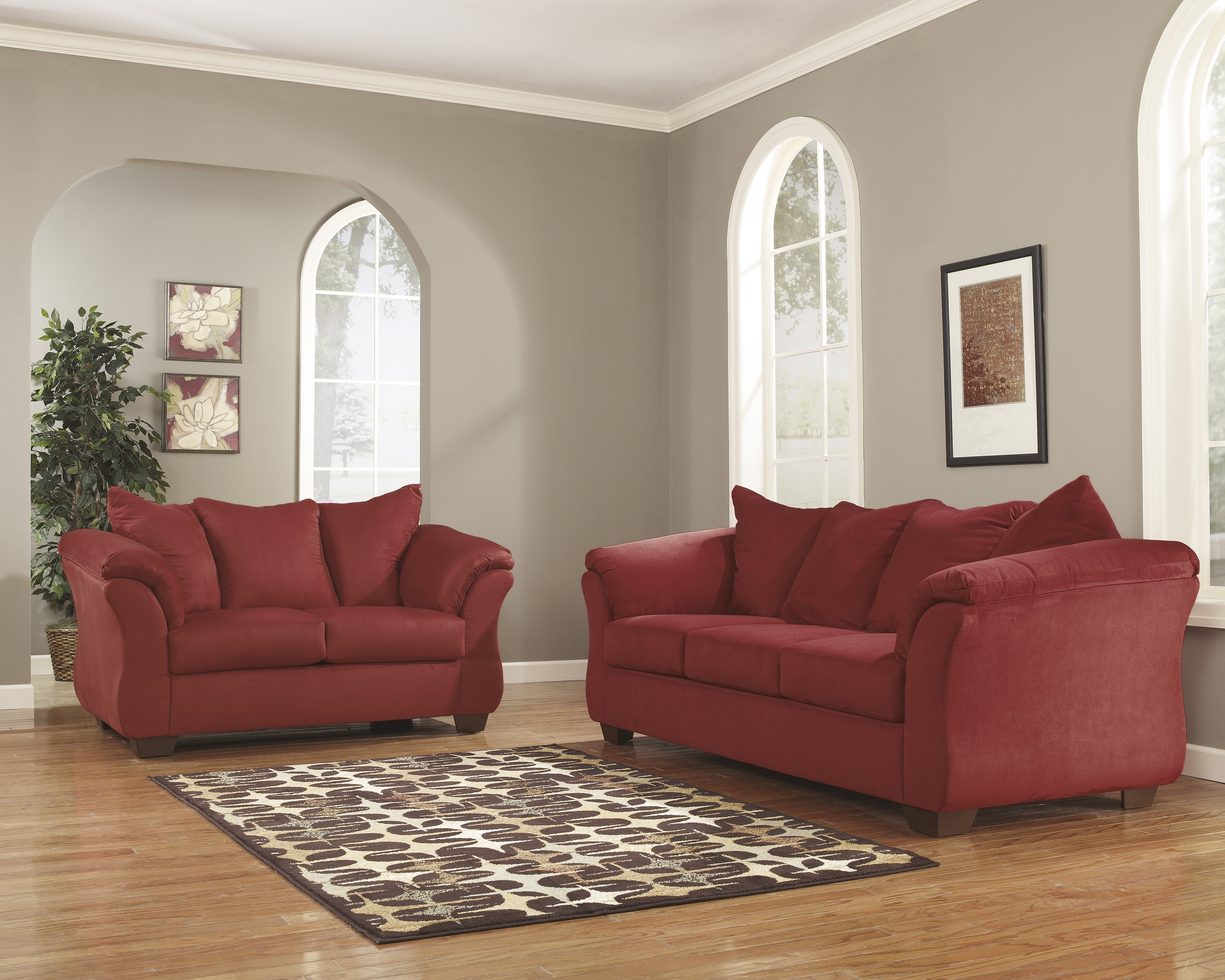 Darcy Salsa Sofa and Loveseat  / $21.99 A Week