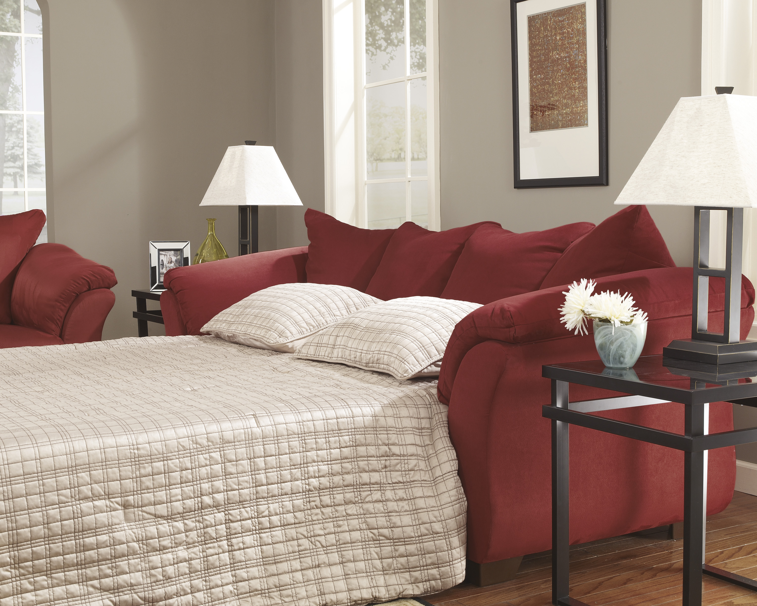 Majik Darcy Salsa Full Size Sleeper Sofa Rent To Own Furniture In Pennsylvania