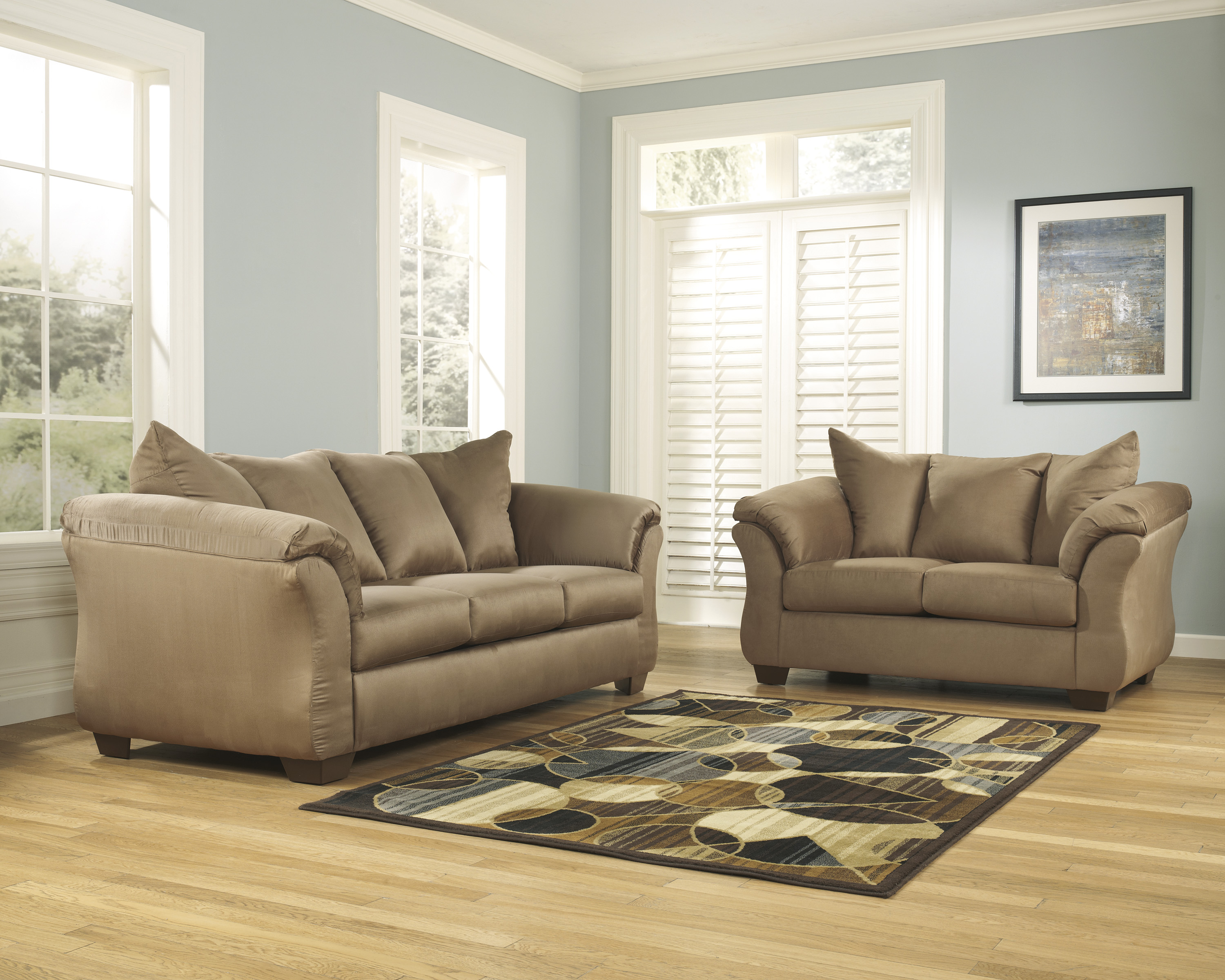 Darcy Mocha Sofa and Loveseat  / $21.99 A Week