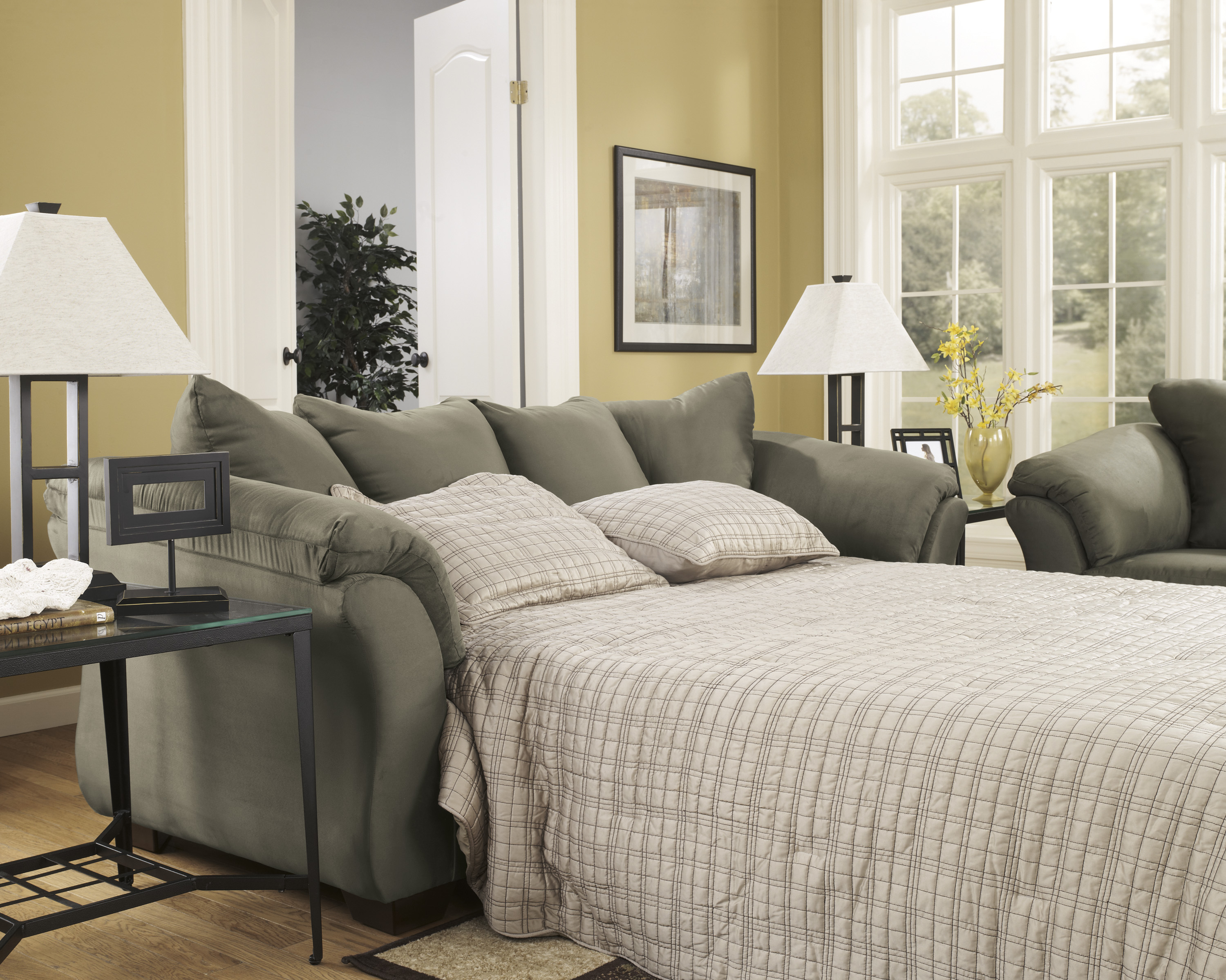 Darcy Sage Full Size Sleeper Sofa  / $19.99 A Week