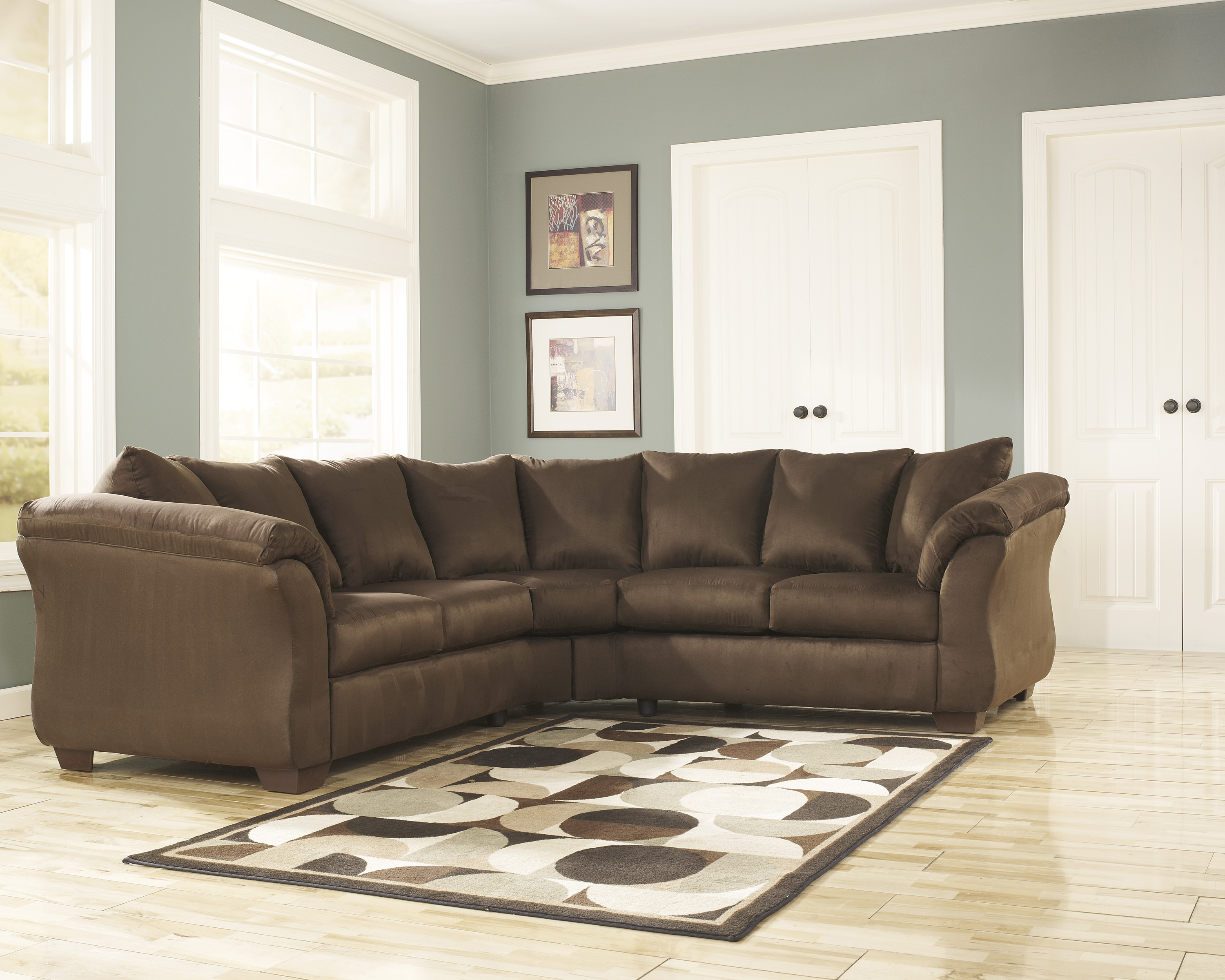 Darcy Cafe Two Piece Sectional  / $23.99 A Week