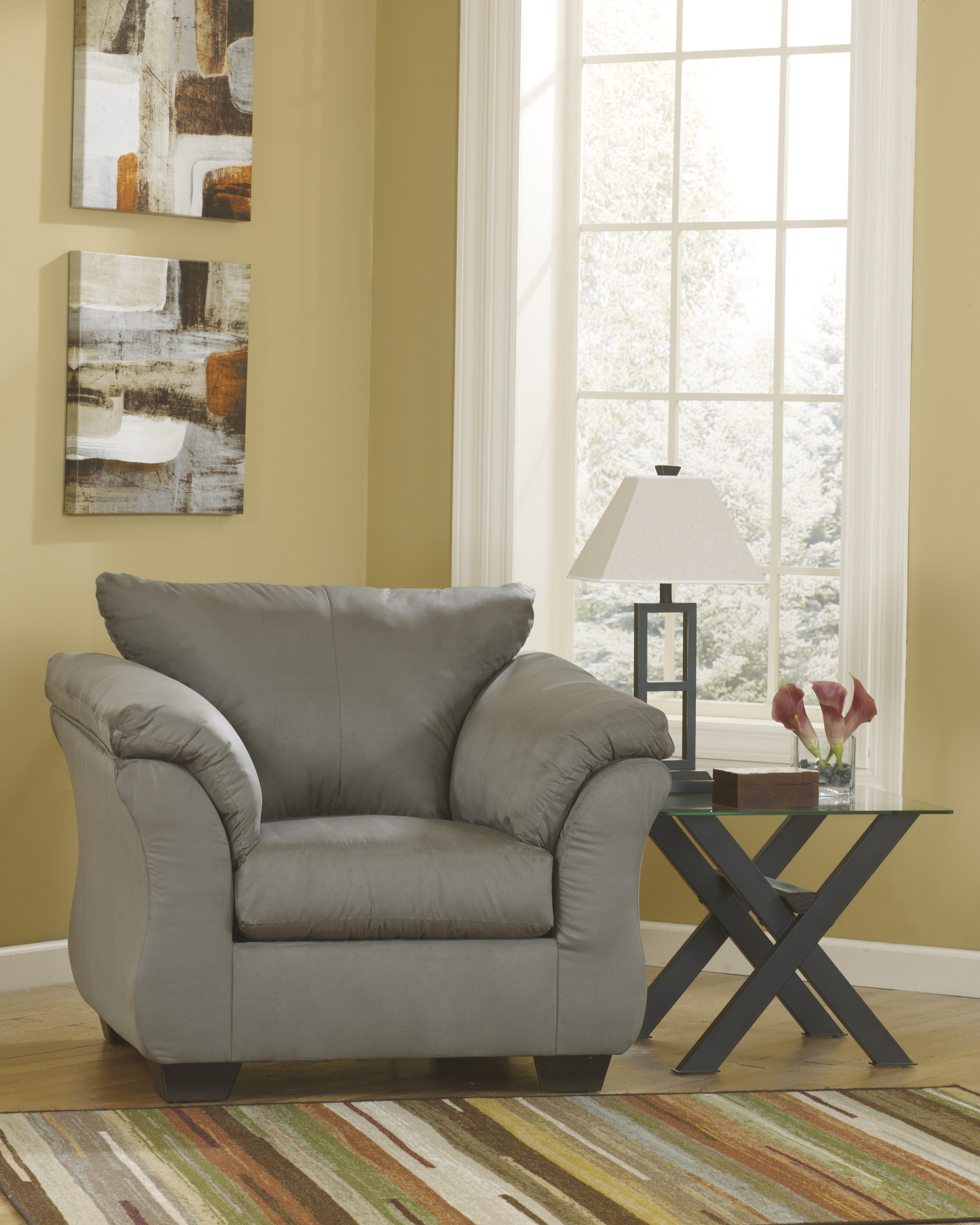 Darcy Cobblestone Stationary Chair  / $12.99 A Week