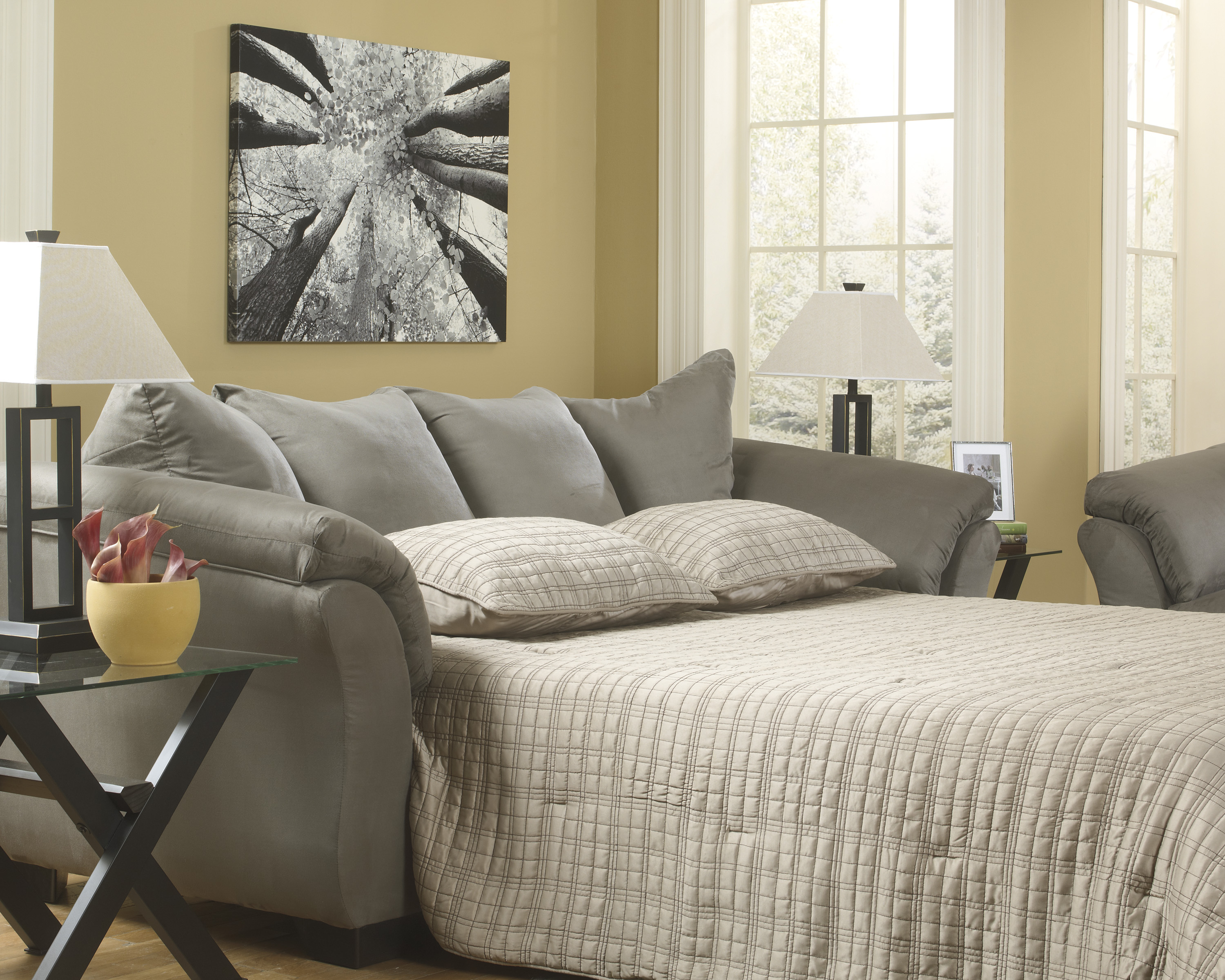 Darcy Cobblestone Full Size Sleeper Sofa  / $19.99 A Week