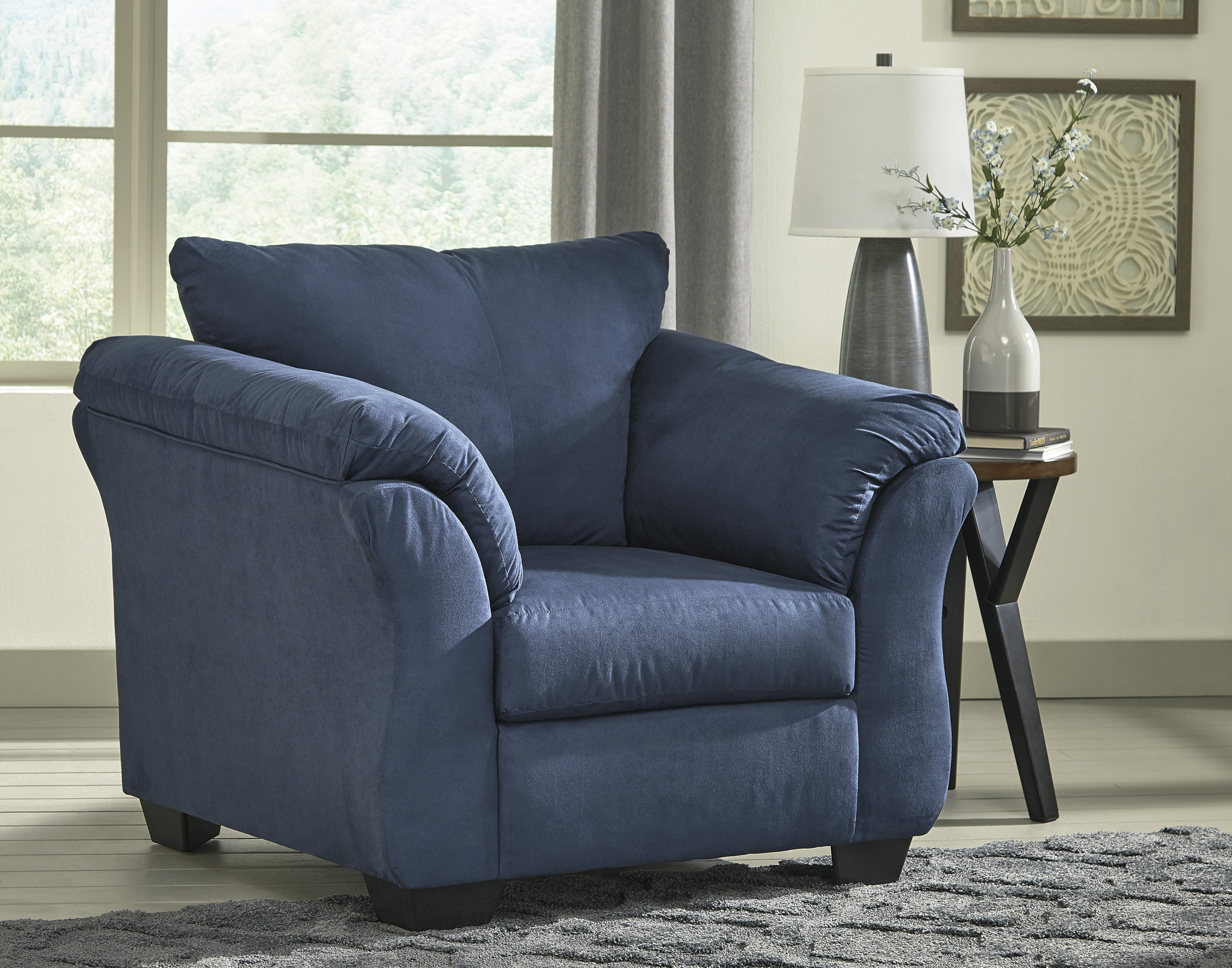 Darcy Blue Stationary Chair  / $12.99 A Week