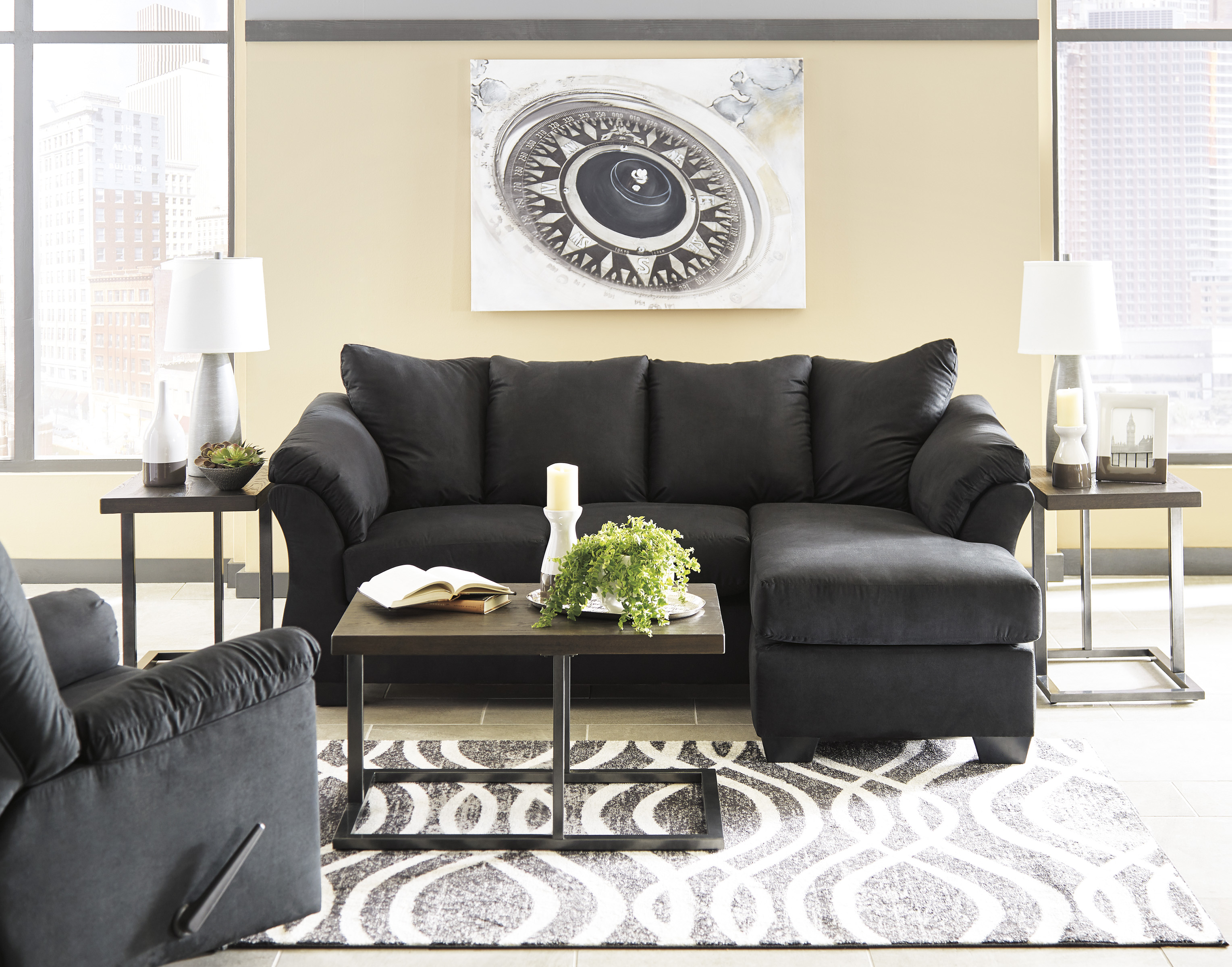 Admirable Majik Darcy Black Sofa Chaise And Loveseat Rent To Own Gmtry Best Dining Table And Chair Ideas Images Gmtryco