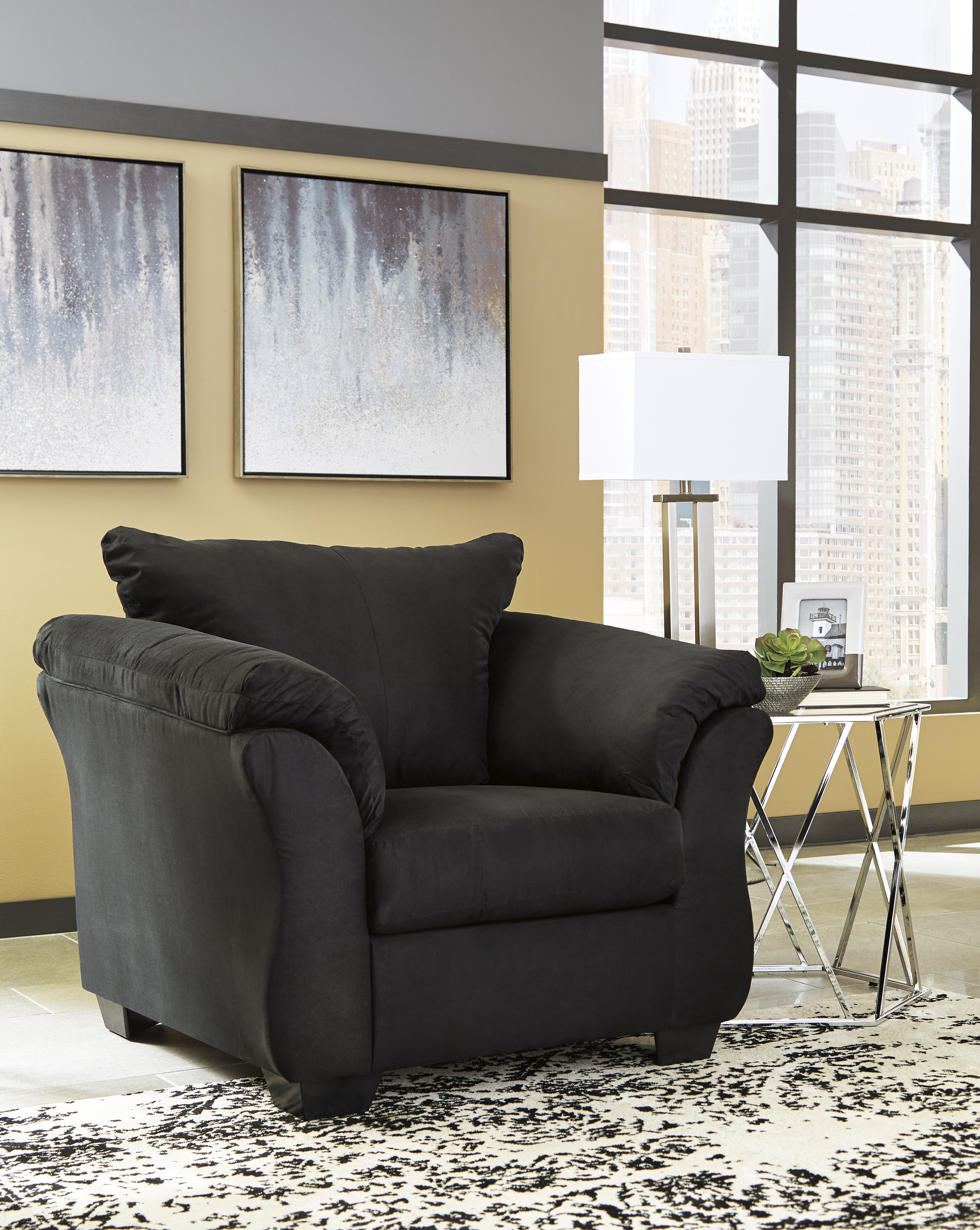 majik darcy black stationary chair rent to own 84186