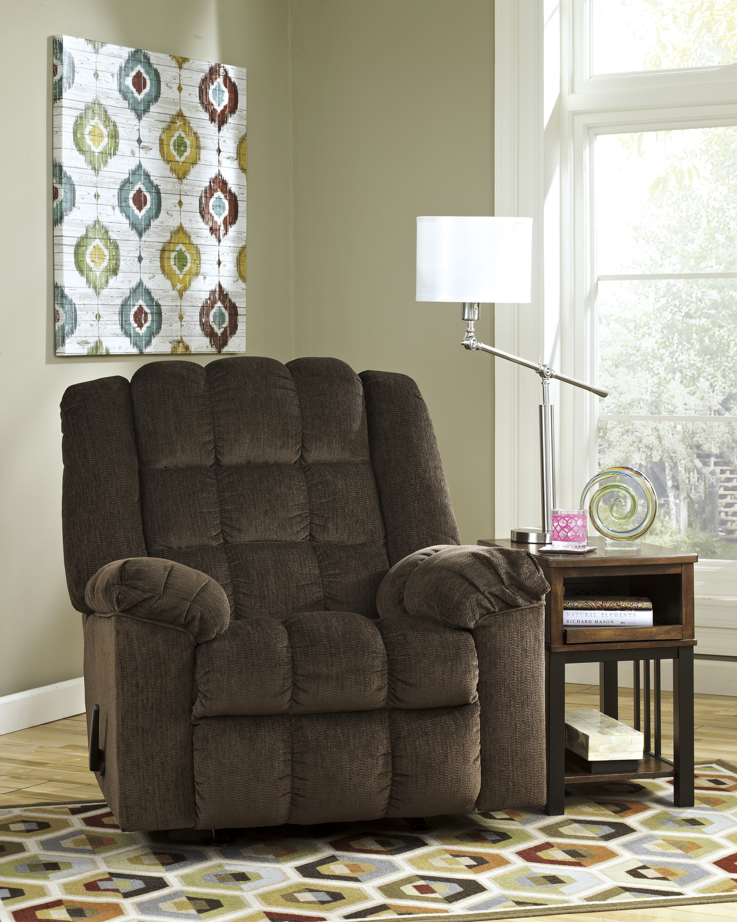 Majik Ludden Cocoa Rocker Recliner Rent To Own