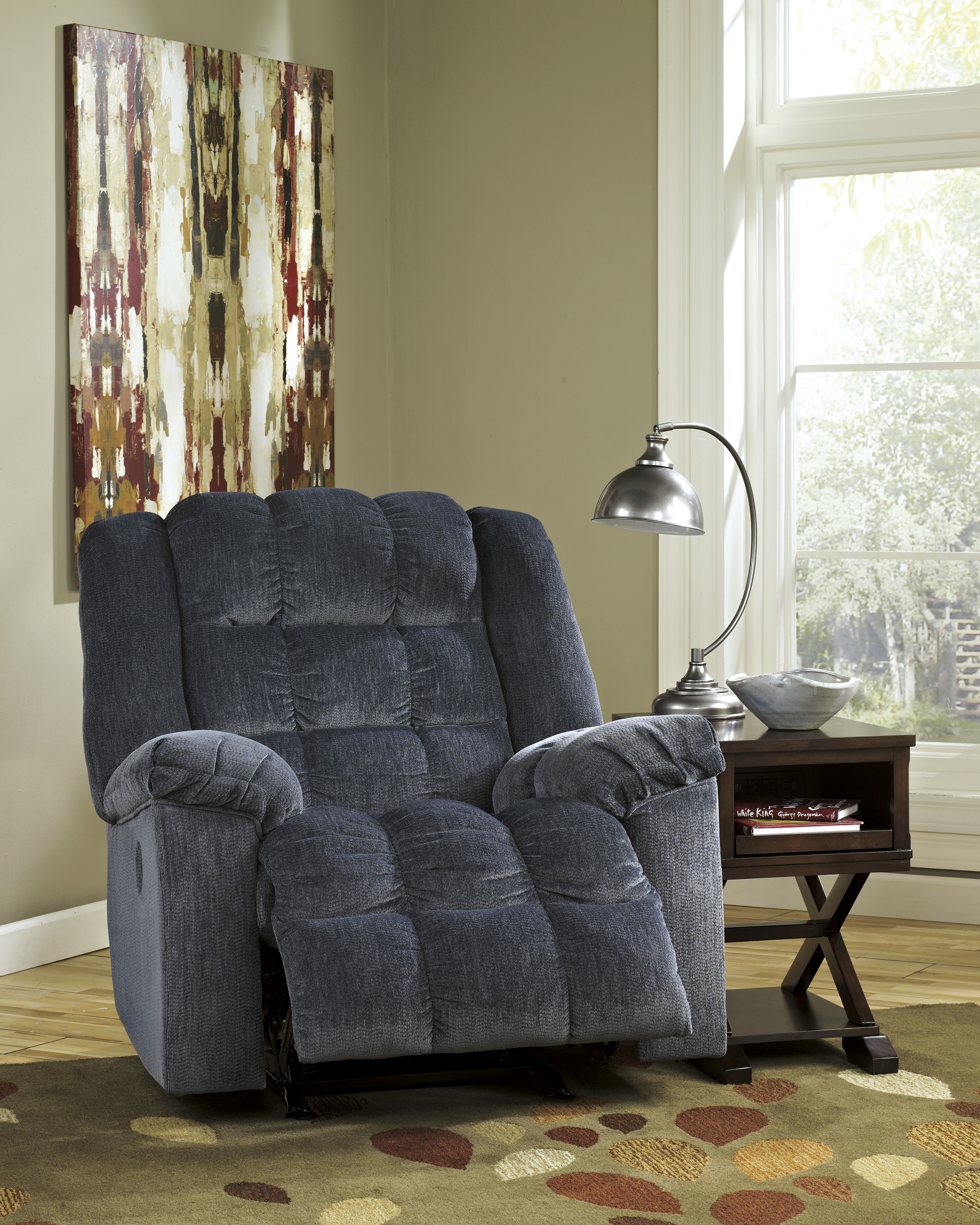 Ludden Blue Power Rocker Recliner  / $15.99 A Week