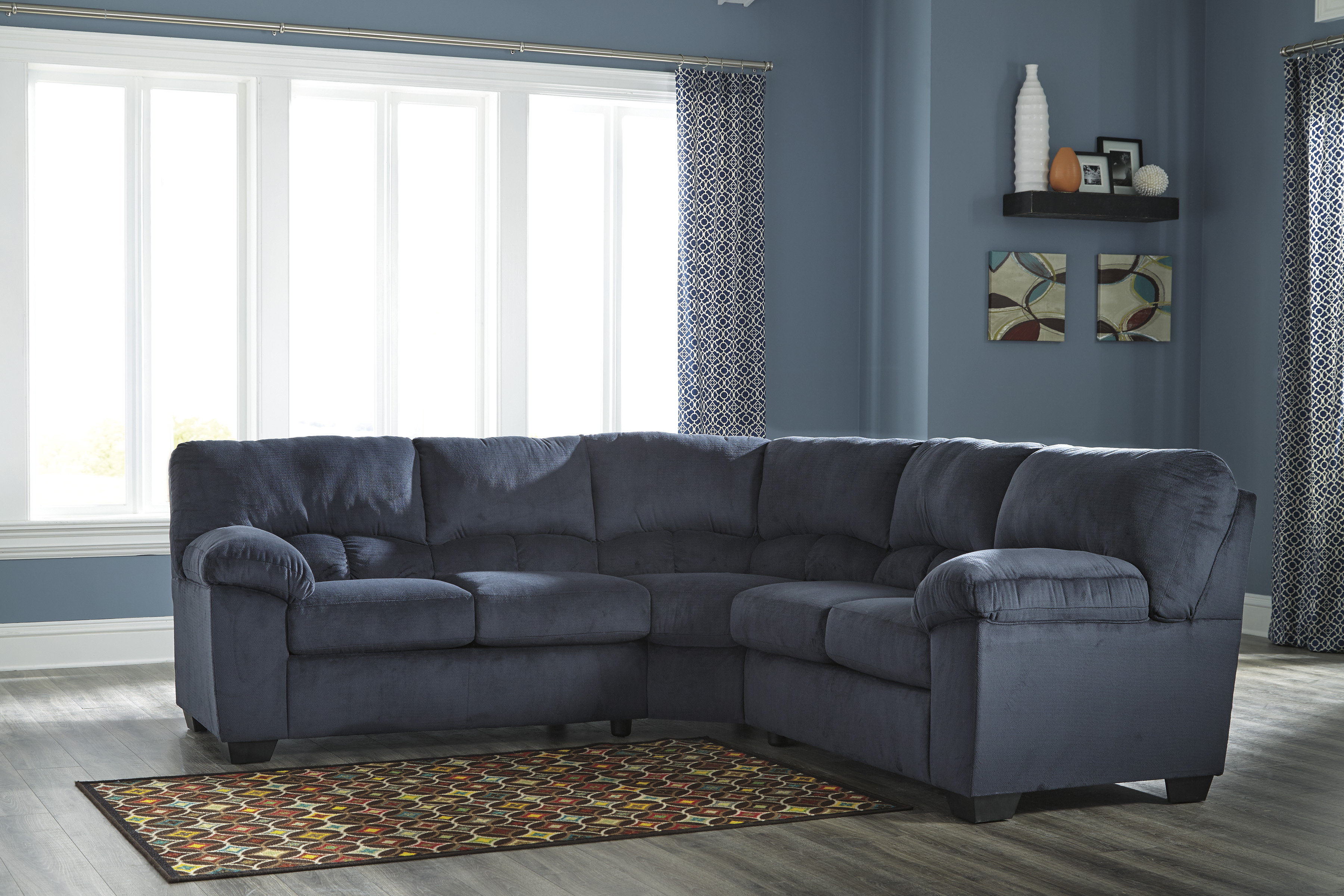 Dailey Midnight Two Piece Sectional  / $22.99 A Week
