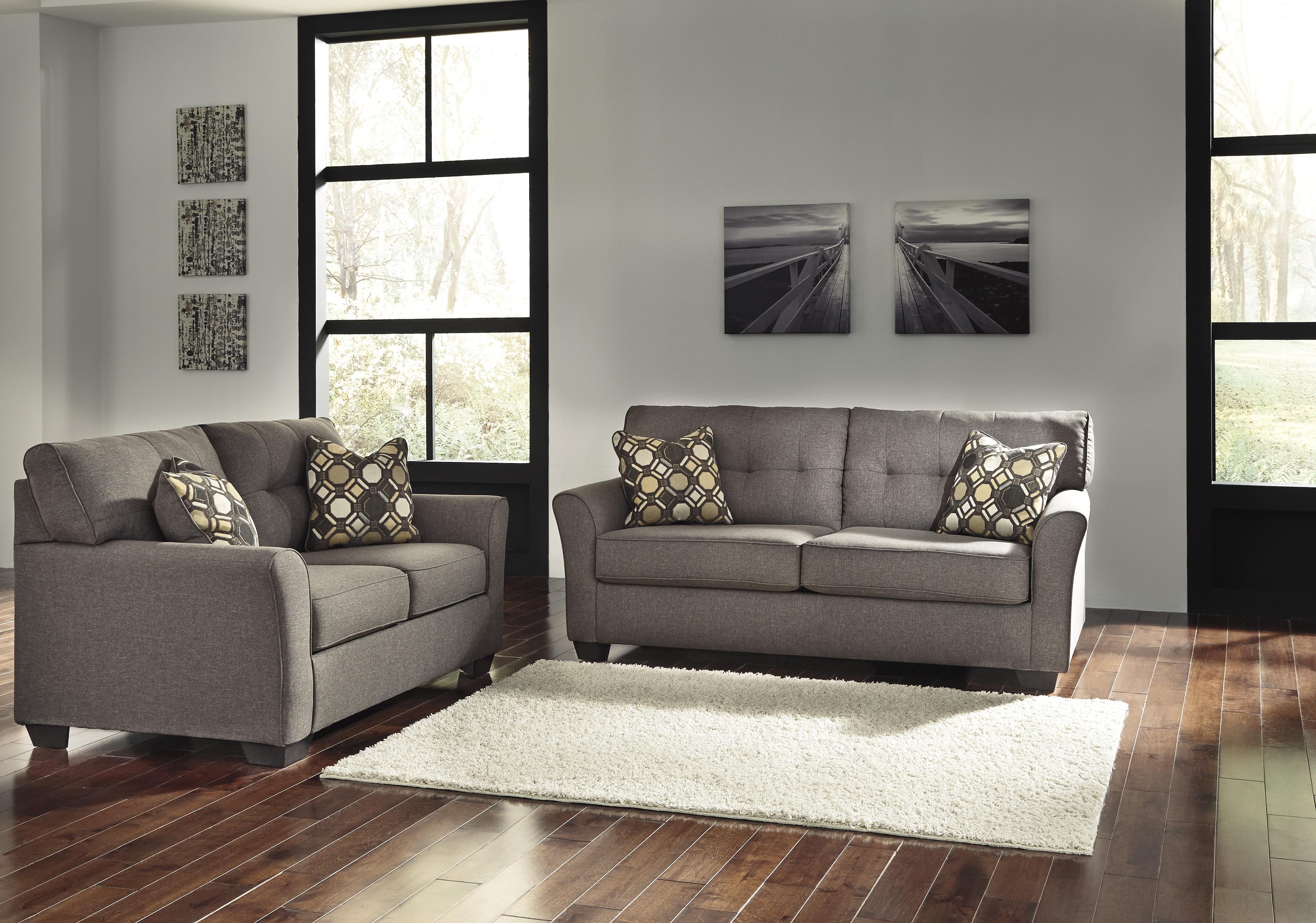 Tibbee Slate Sofa and Loveseat  / $21.99 A Week