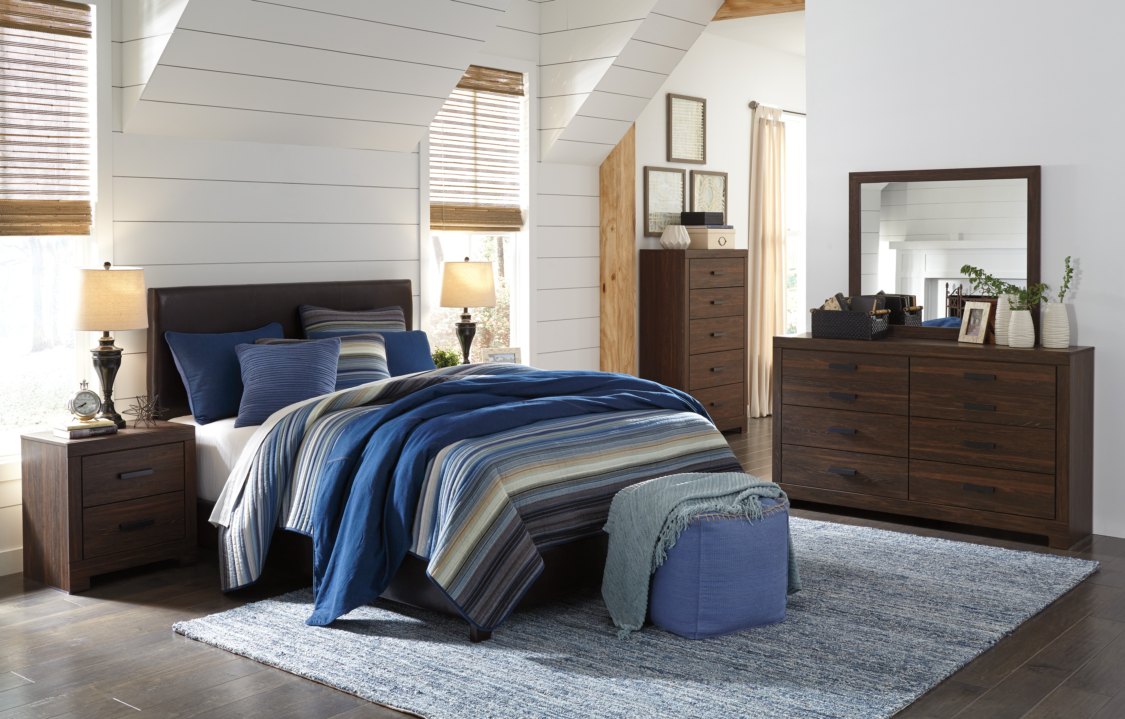 Arkaline Full/Queen Headboard, Dresser, Mirror & Nightstand  / $21.99 A Week