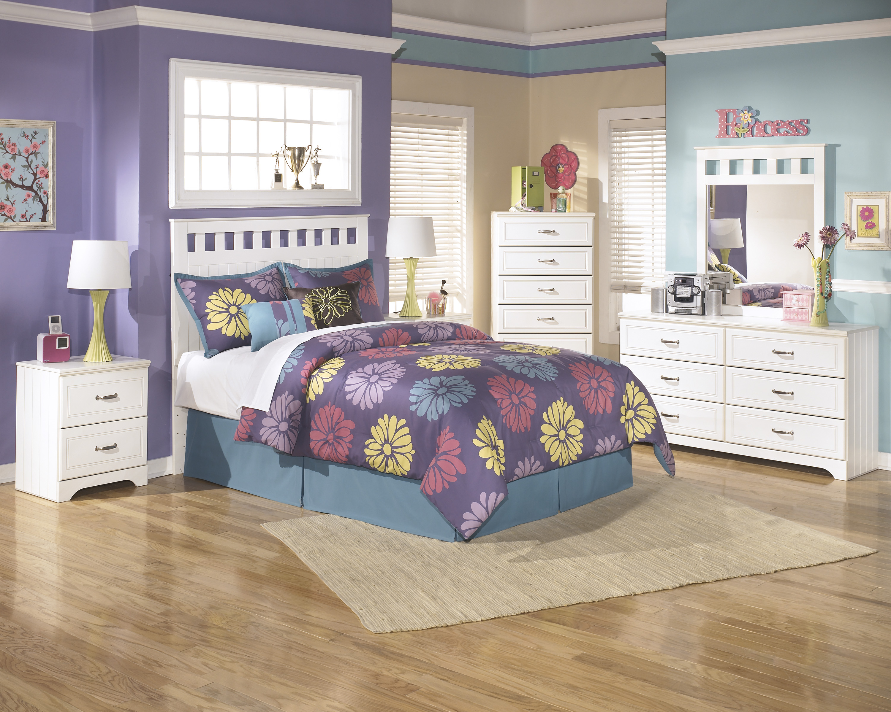 bed set furniture majik lulu youth white headboard dresser amp mirror 10252