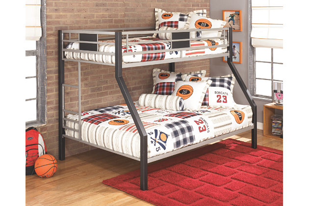 Majik Dinsmore Black Silver Twin Full Bunk Bed Rent To Own Furniture In Pennsylvania