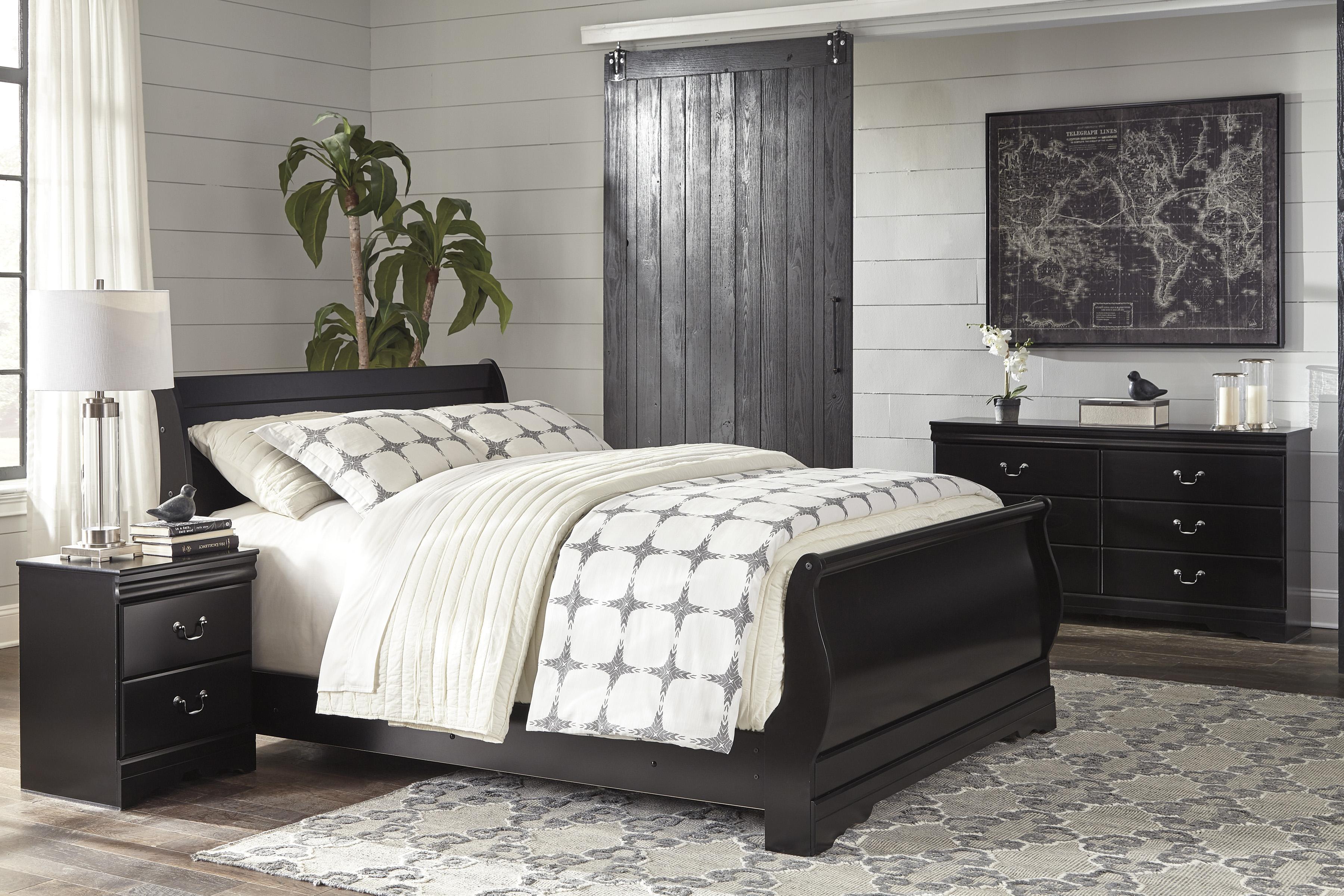 Huey Vineyard Full Sleigh Bed, Dresser & Mirror  / $19.99 A Week
