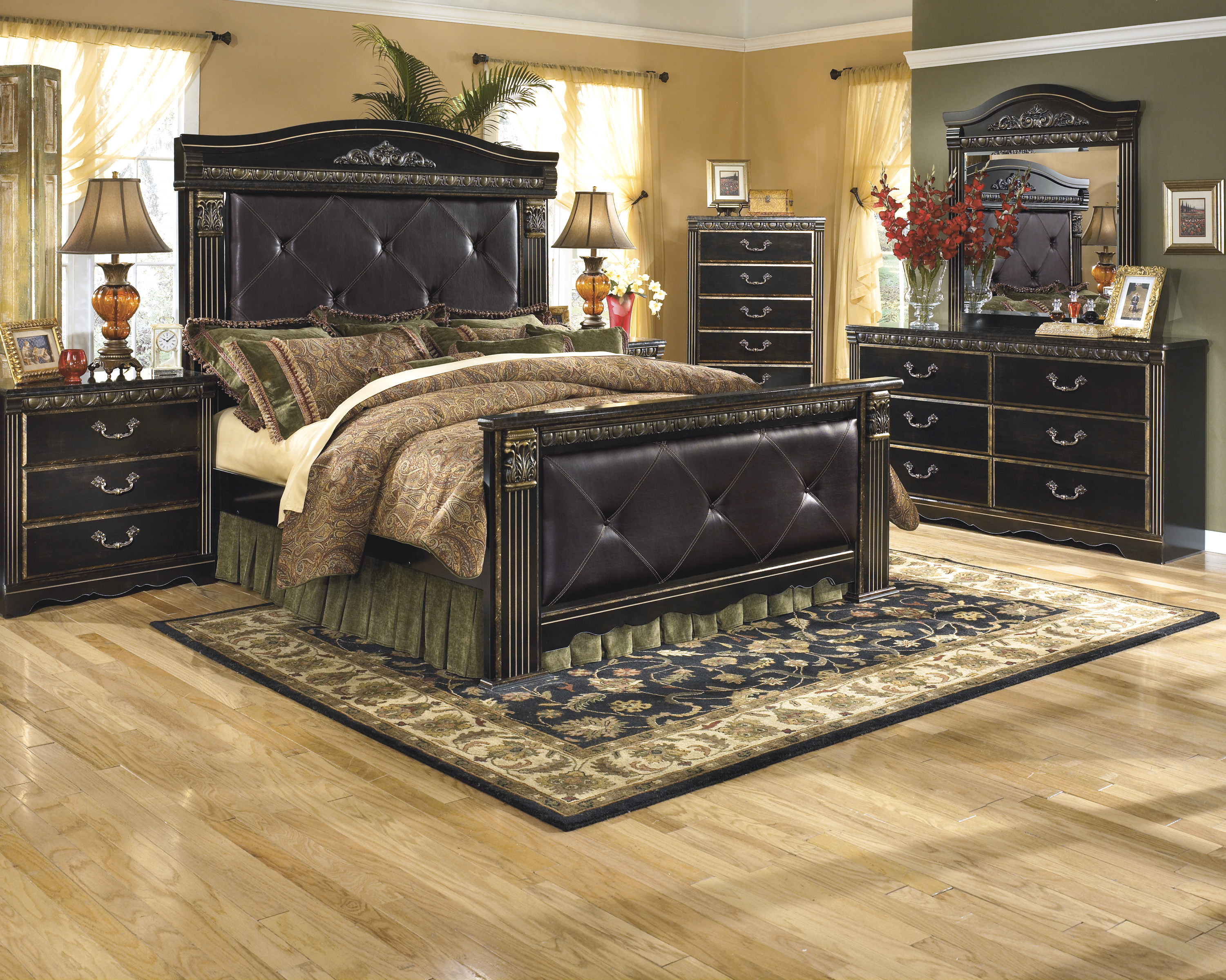 set panel bed dresser pic porter king black ashley furniture by bedroom dressers
