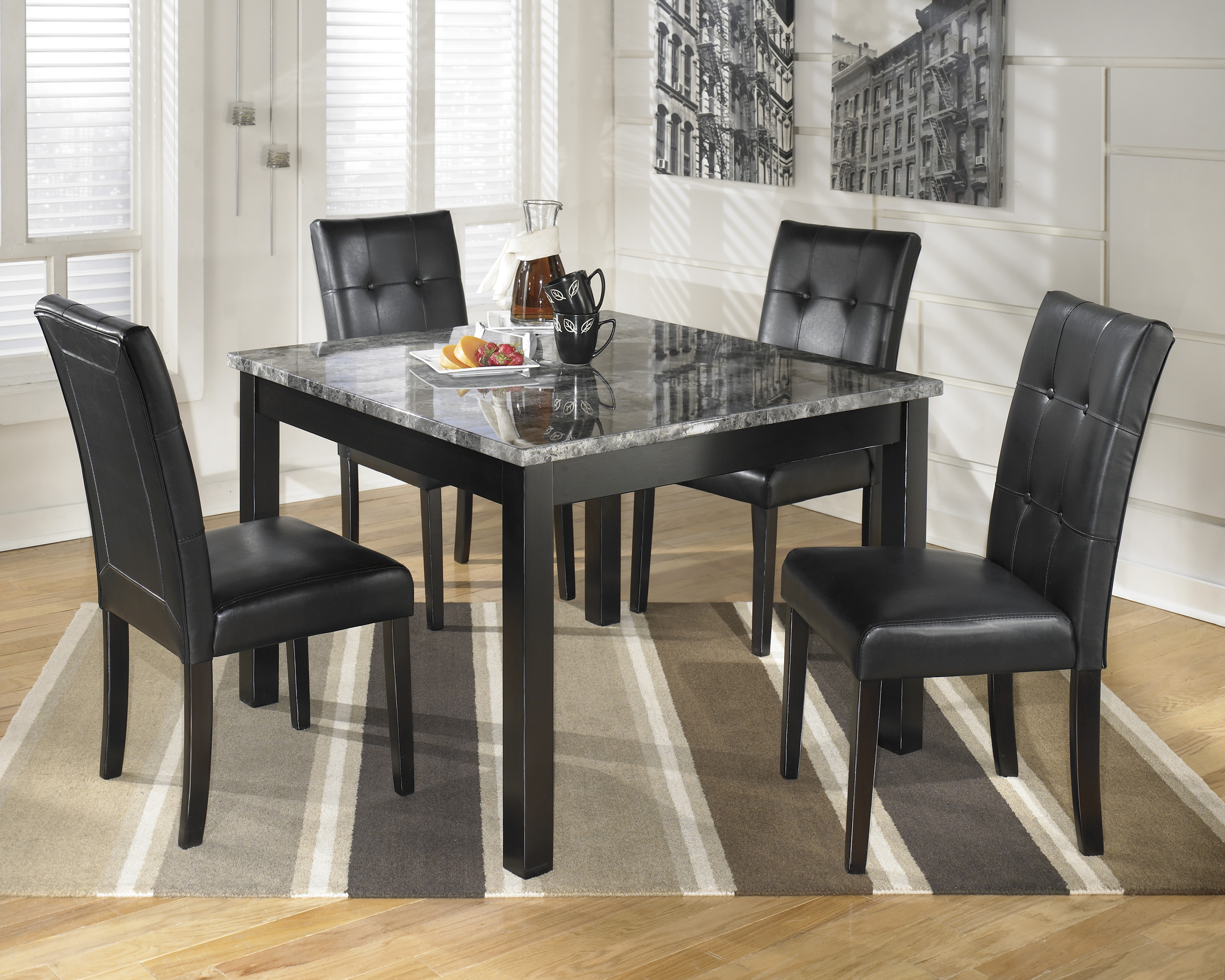 overview the maysvilles square shape offers comfortable dining - Square Kitchen Table Sets For 4