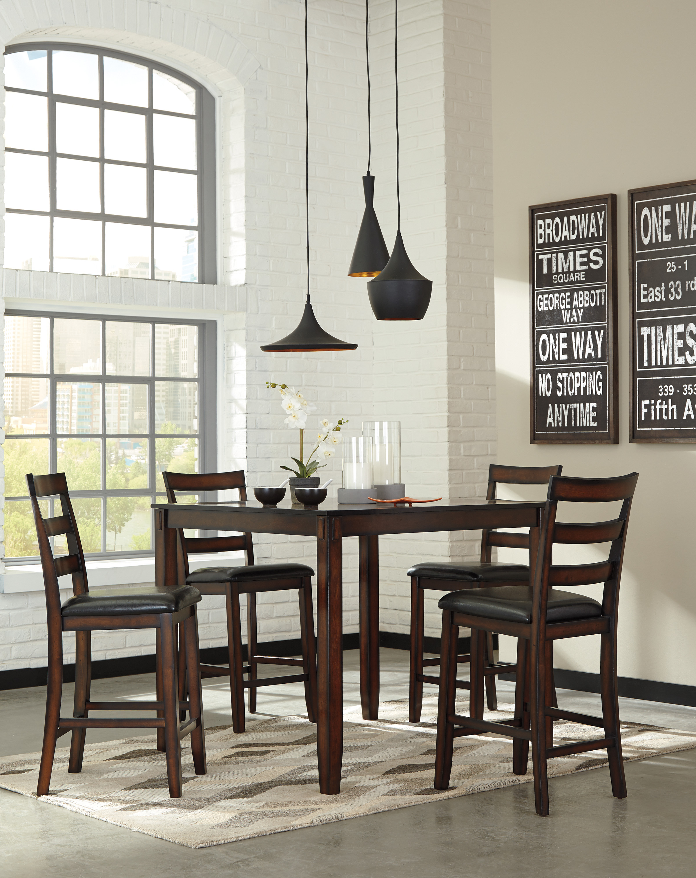 Coviar Counter Dining Room Table and Four Chairs  / $14.99 A Week