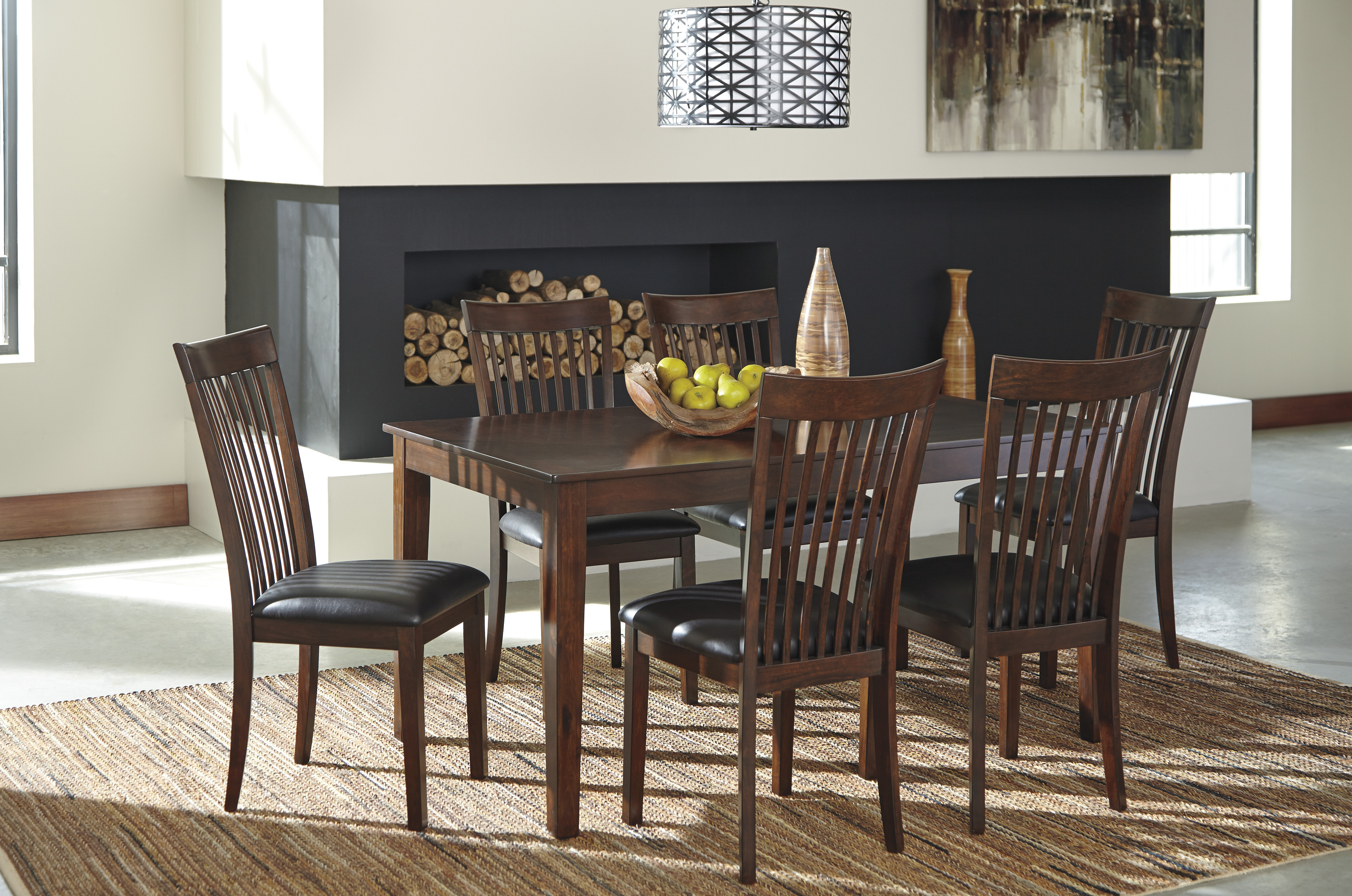 Majik   Mallenton Brown Dining Room Table and Six Chairs   Rent To ...