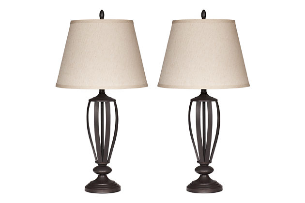 Mildred - Bronze Finish Metal Table Lamps  / $7.99 A Week