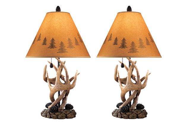 Derek - Brown Poly Table Lamps  / $7.99 A Week