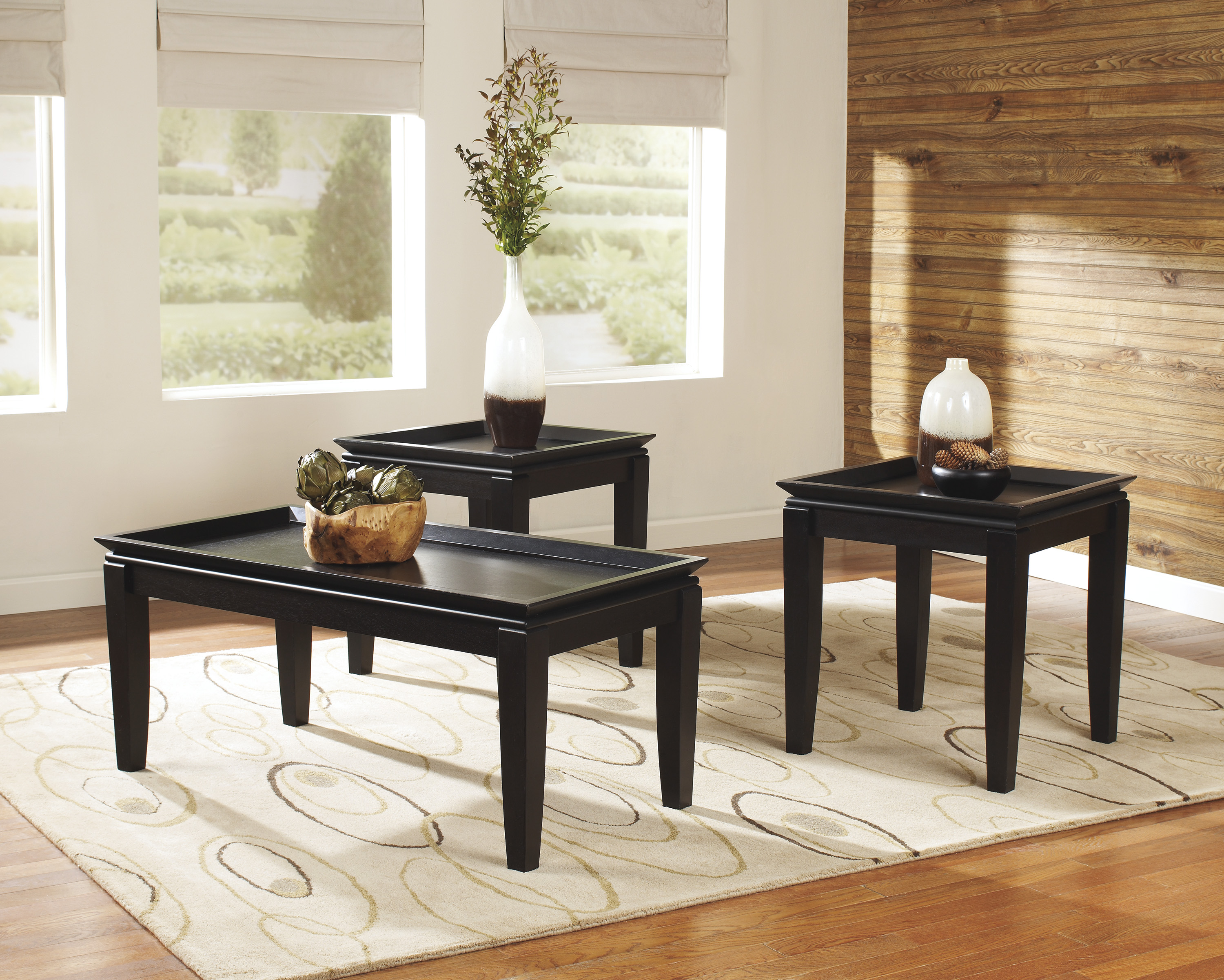 Delormy Cocktail Table & 2 End Tables  / $11.99 A Week