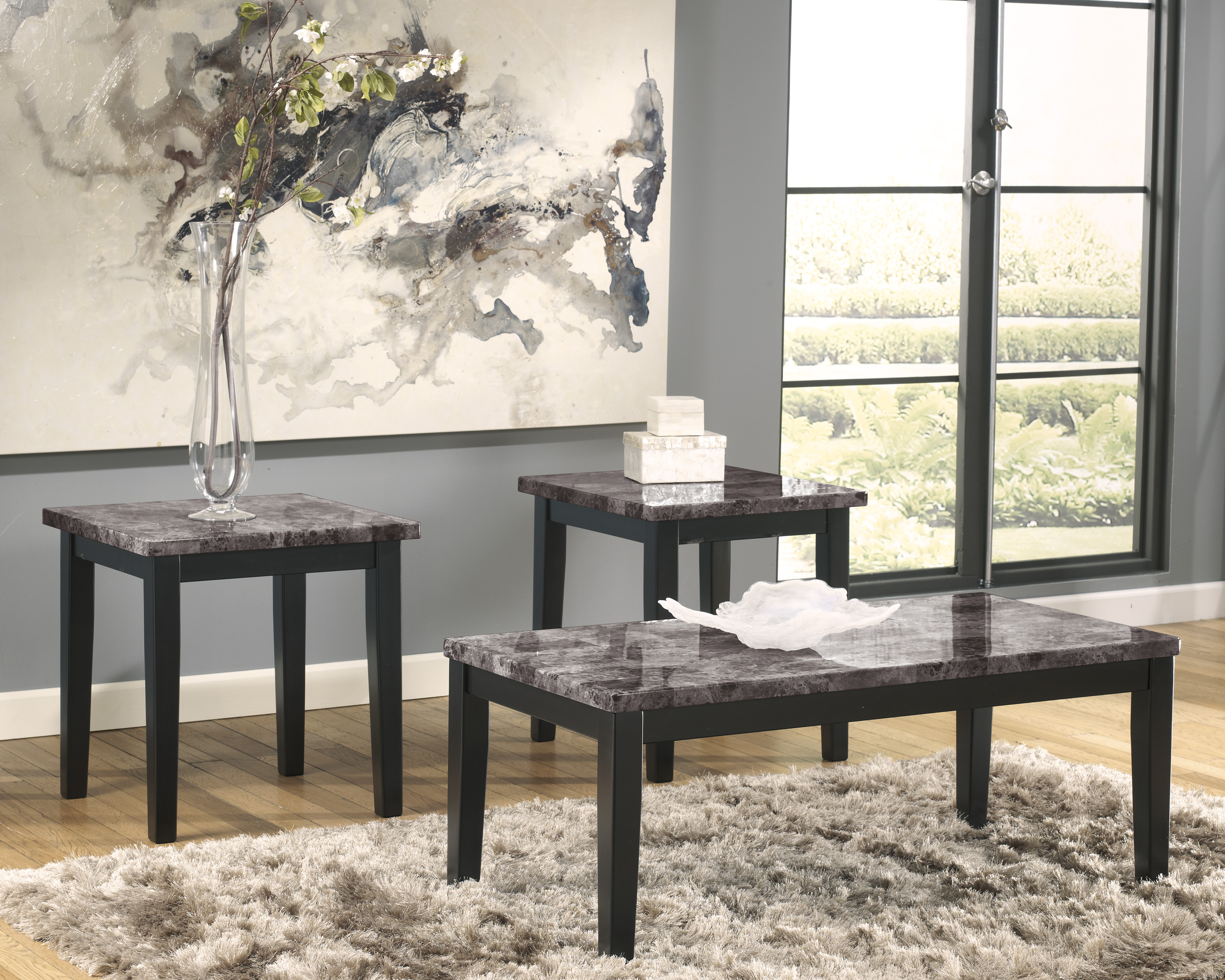 Majik Maysville Black Cocktail 2 End Tables Rent To Own