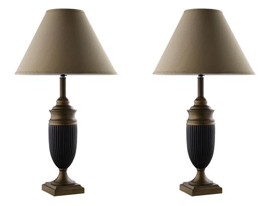 Cocoa/Bronze Vase Lamps  / $2.99 A Week