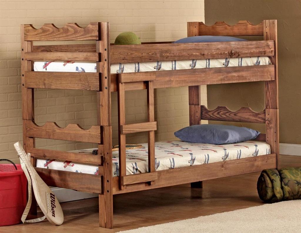 Saddlebrook - Scalloped Twin/Twin Wood Bunk Bed  / $13.99 A Week