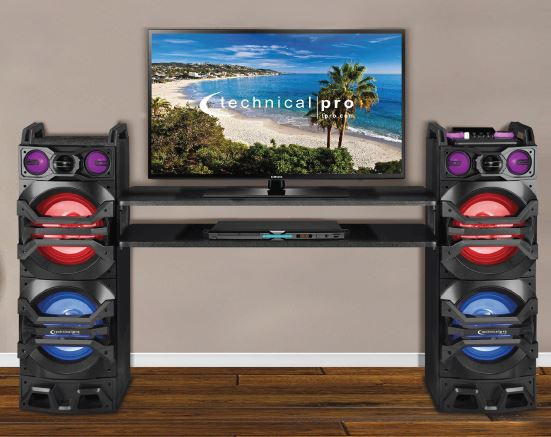 Bass Smasher Black Speakers With Stand  / $15.99 A Week