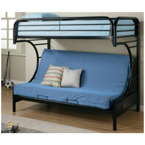 Black Twin Over Futon Youth Bunk Bed  / $13.99 A Week