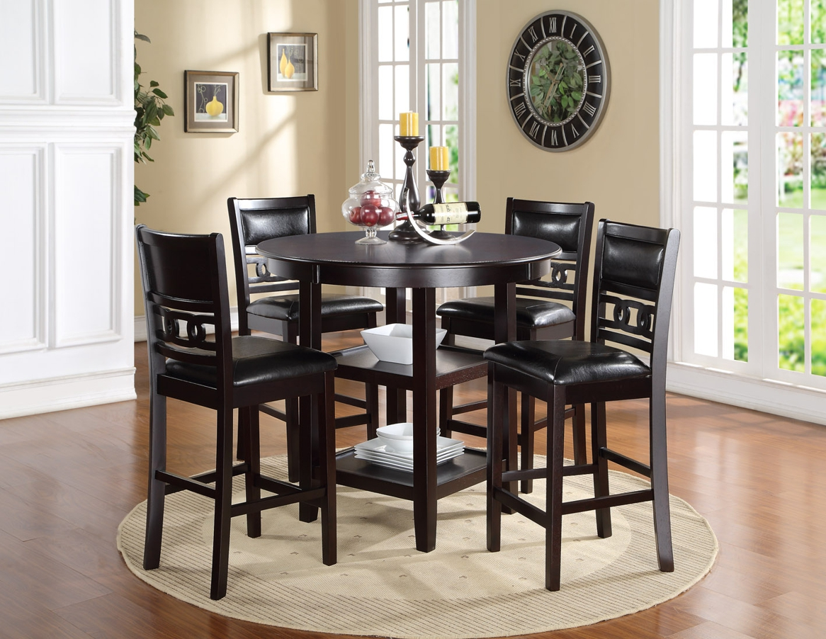 Gia Black Counter Table and Four Chairs  / $16.99 A Week