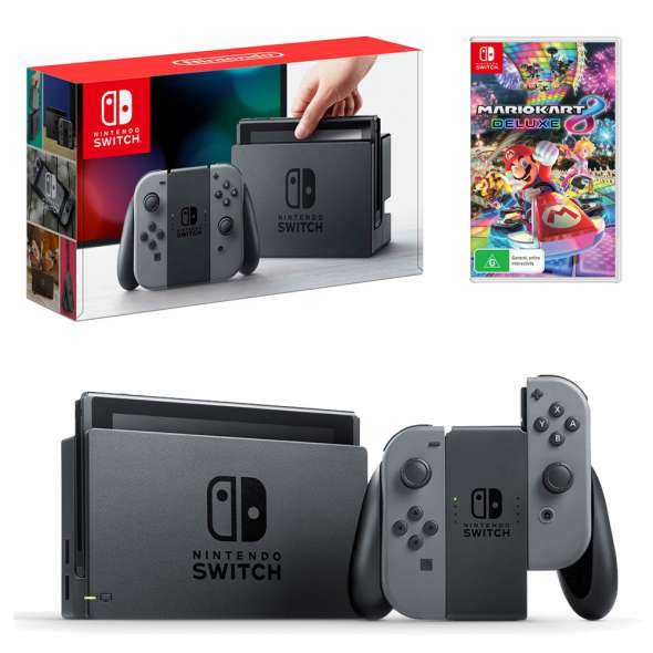 Nintendo Switch Gray Console With Mario Kart 8 Deluxe  / $29.99 A Week