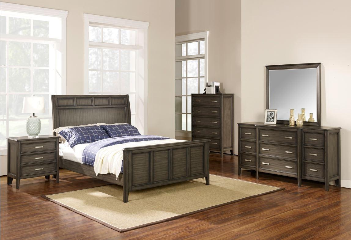Richfield Smoke Queen Bed, Dresser, Mirror, Chest & Nightstand  / $43.99 A Week