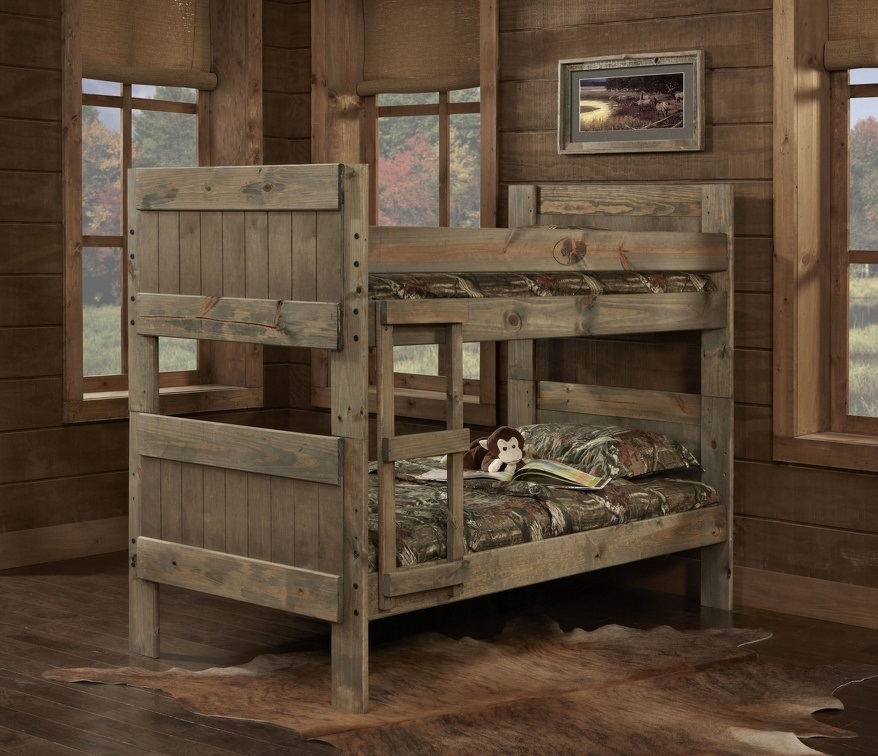 Majik Mossy Oak Twin Twin Bunk Bed Rent To Own