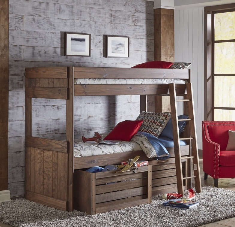 Twin/Twin Bunk Bed With Underbed Storage