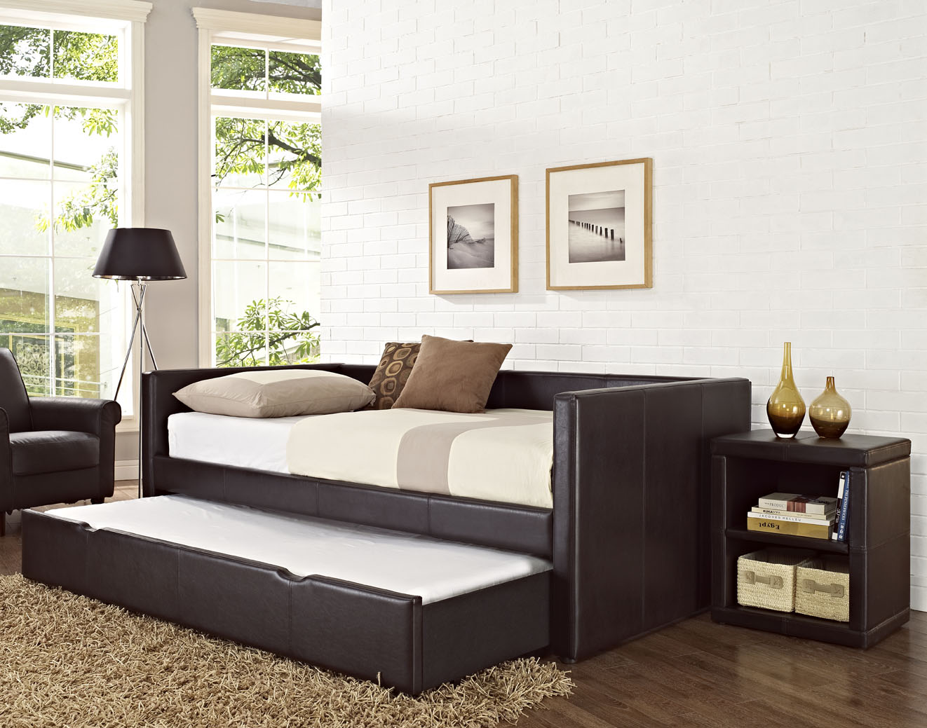 Majik Lindsey Brown Youth Daybed Rent To Own Furniture