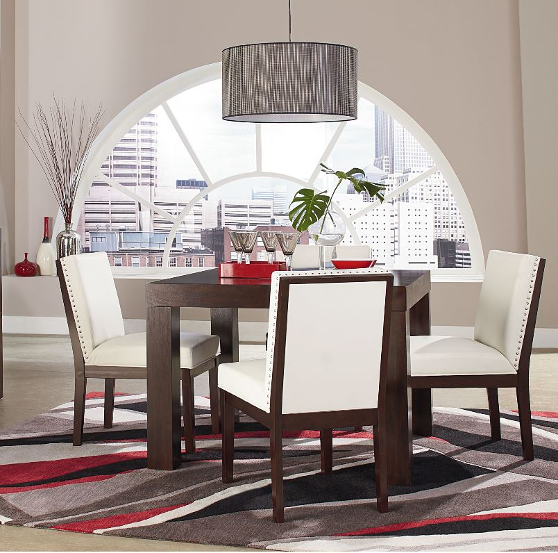 Outdoor Patio Furniture York Pa: Couture Elegance Dining Table And Four White