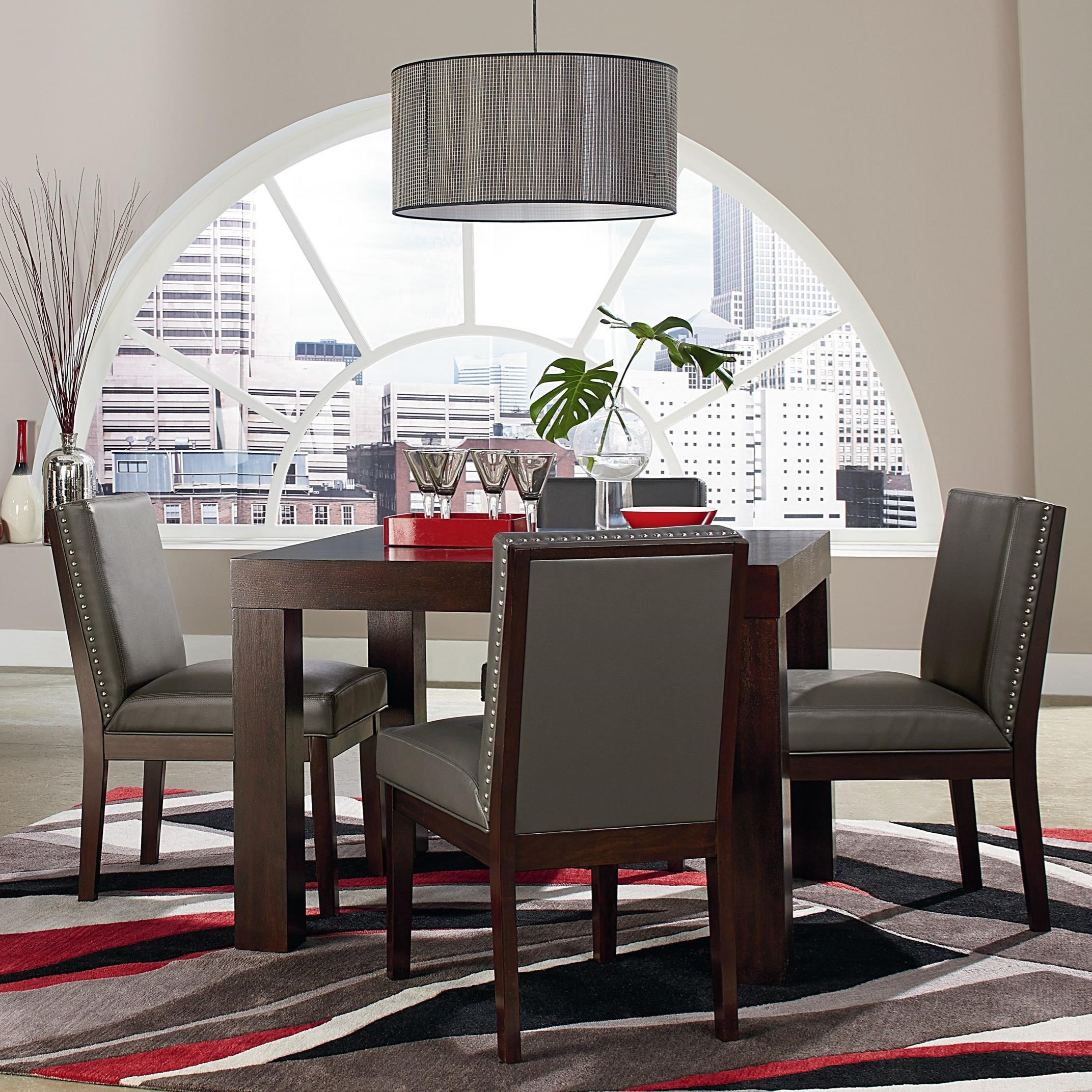 Couture Elegance Dining Table and Four Gray Chairs  / $20.99 A Week