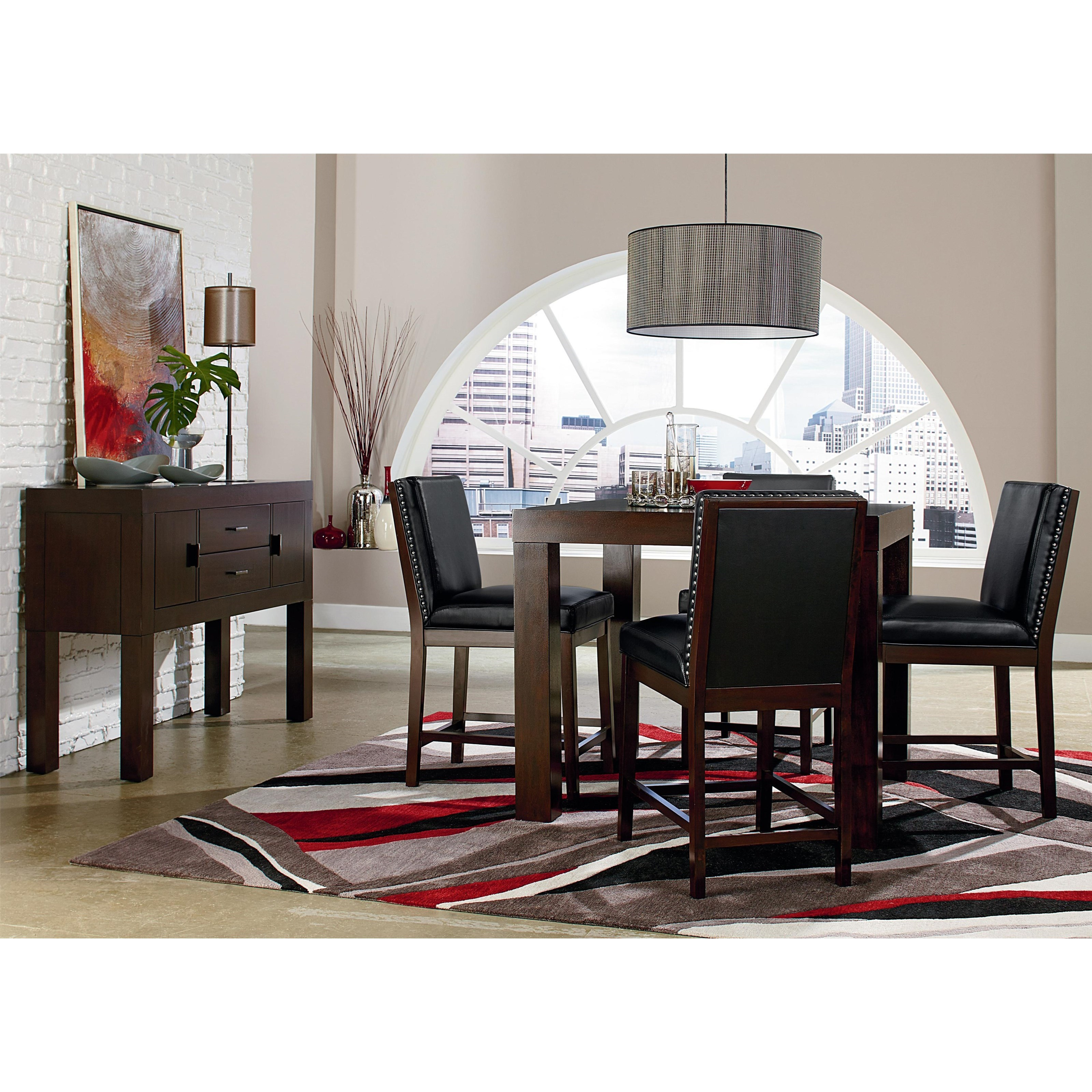 Couture Elegance Dining Table and Four Black Chairs  / $20.99 A Week
