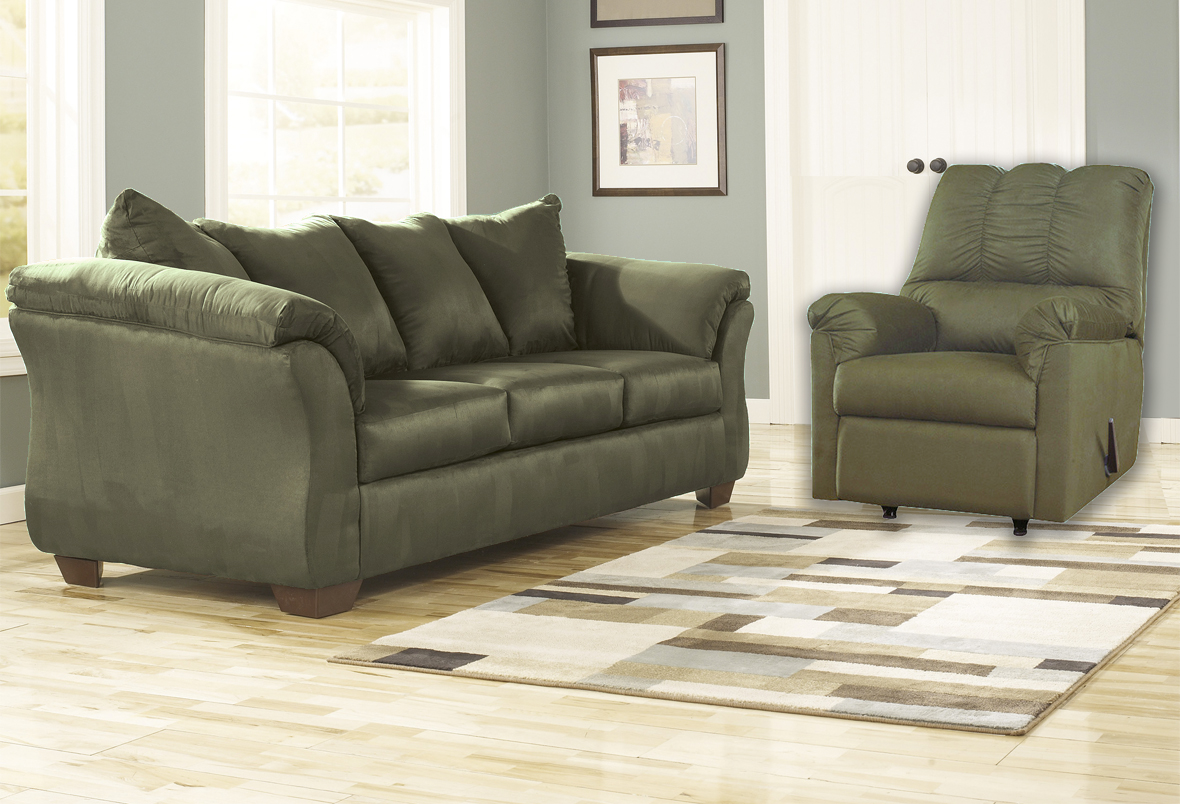 Darcy Sage Sofa And Rocker Recliner Majik Rent To Own