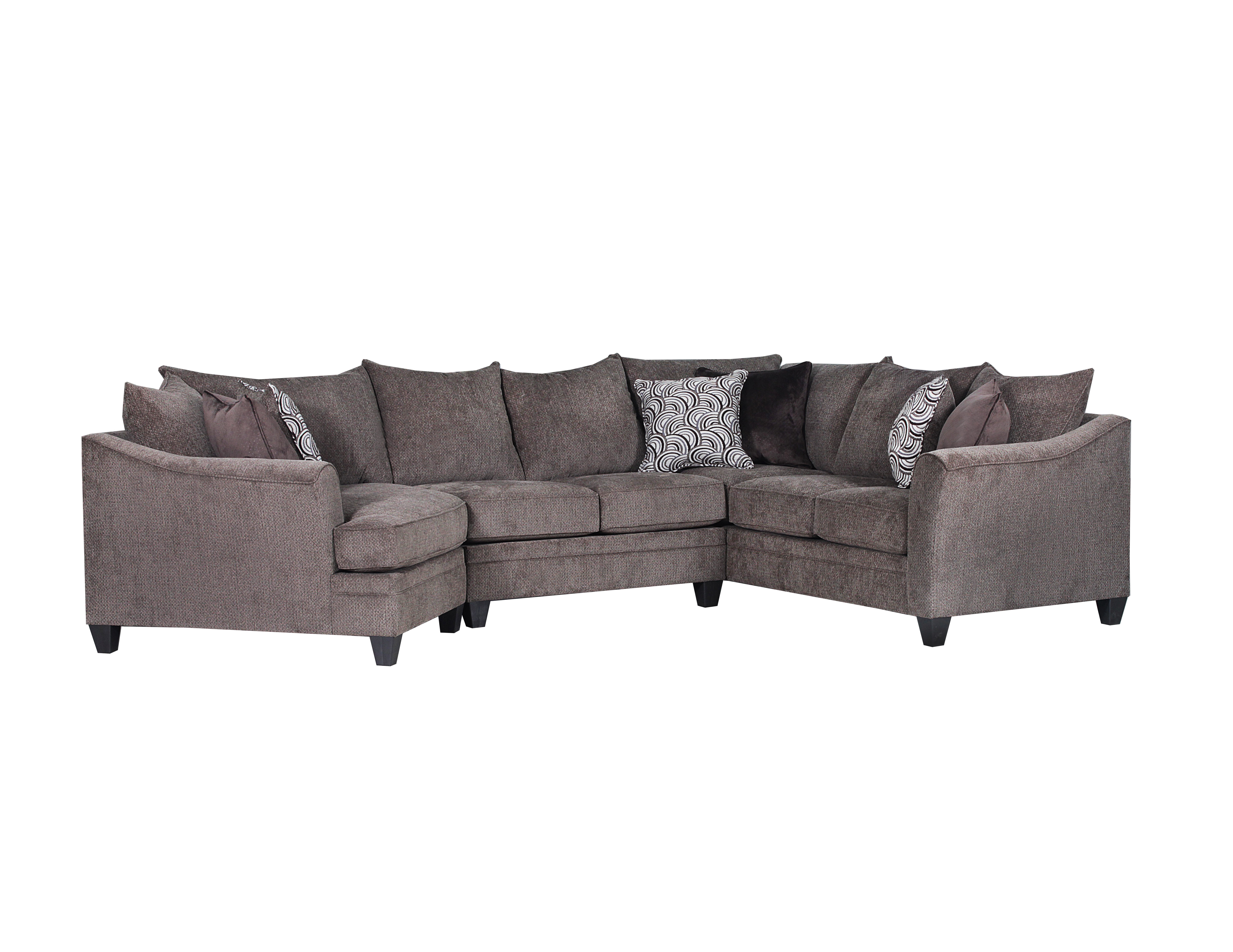 Albany Brown Non-Motion Three Piece Sectional  / $31.99 A Week