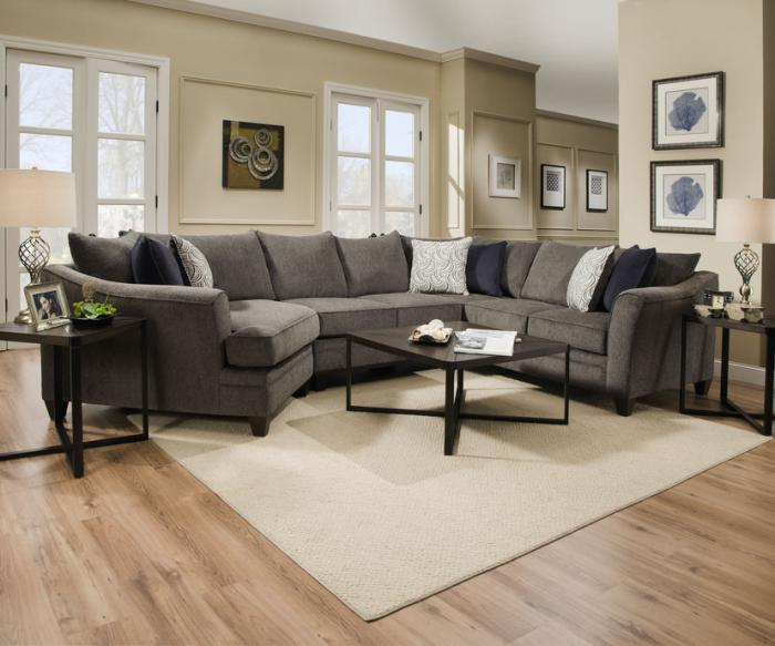 Albany Pewter Non-Motion Three Piece Sectional  / $32.99 A Week